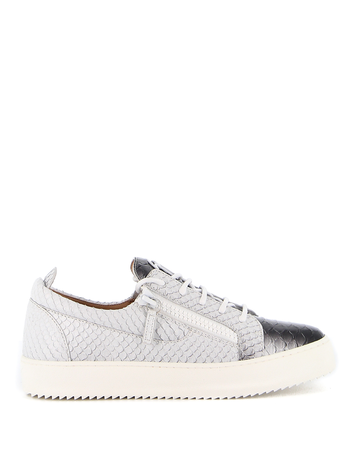 Giuseppe Zanotti Leathers MAY LONDON SCALES EFFECT LEATHER SNEAKERS