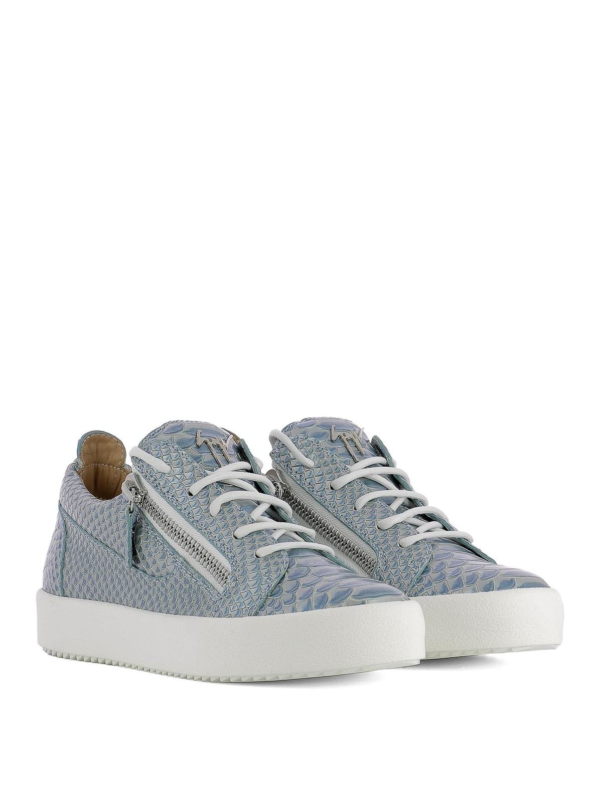 snake embossed Gail sneakers - Grey Giuseppe Zanotti DdIEQrxr8g