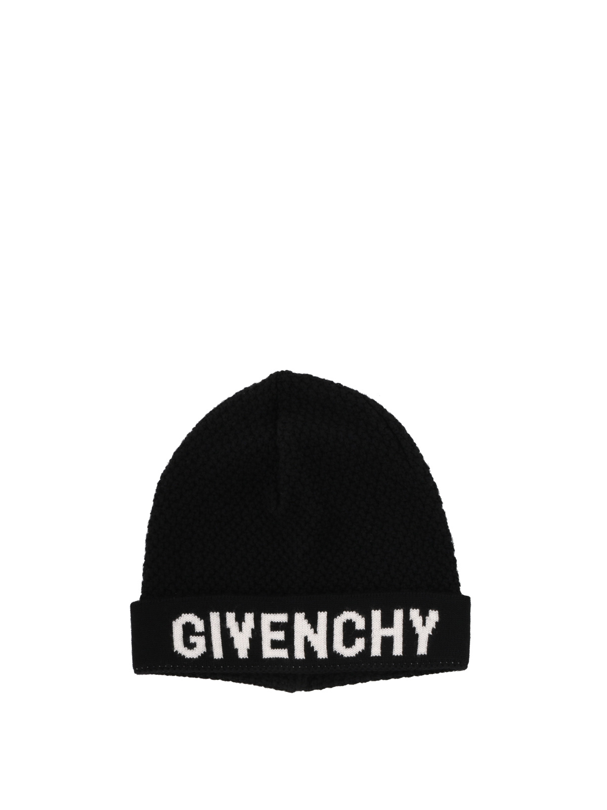 78f82023060 Givenchy - Black and white wool beanie - beanies - GWCAPPU13562