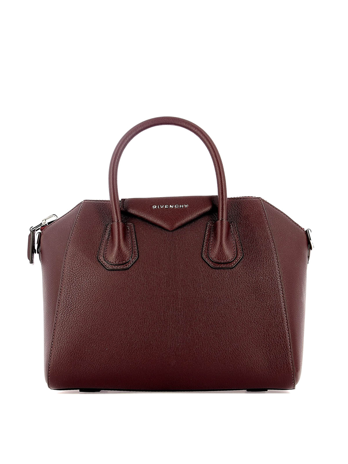 57feb227a5f Givenchy - Antigona aubergine leather small handbag - bowling bags ...