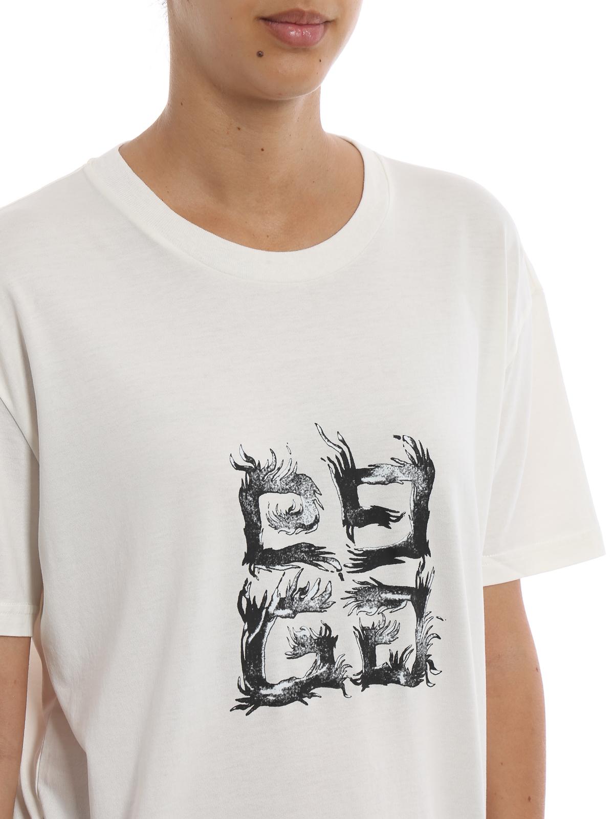 3e134659 Givenchy - 4G Flame logo print T-shirt - t-shirts - BW704R3Z0Z 130