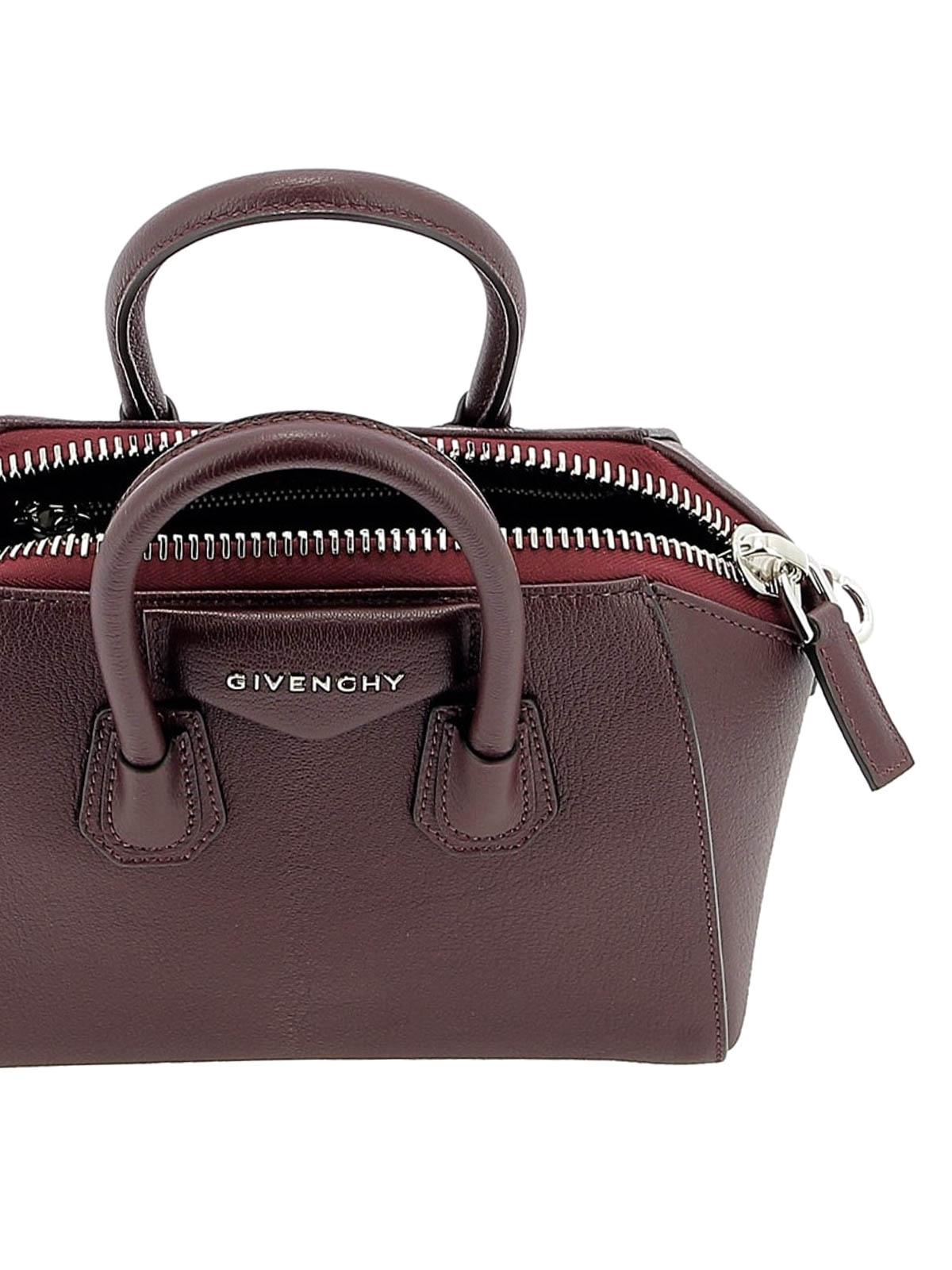 43f3eda2649 GIVENCHY buy online Antigona aubergine leather mini handbag. GIVENCHY: bowling  bags ...