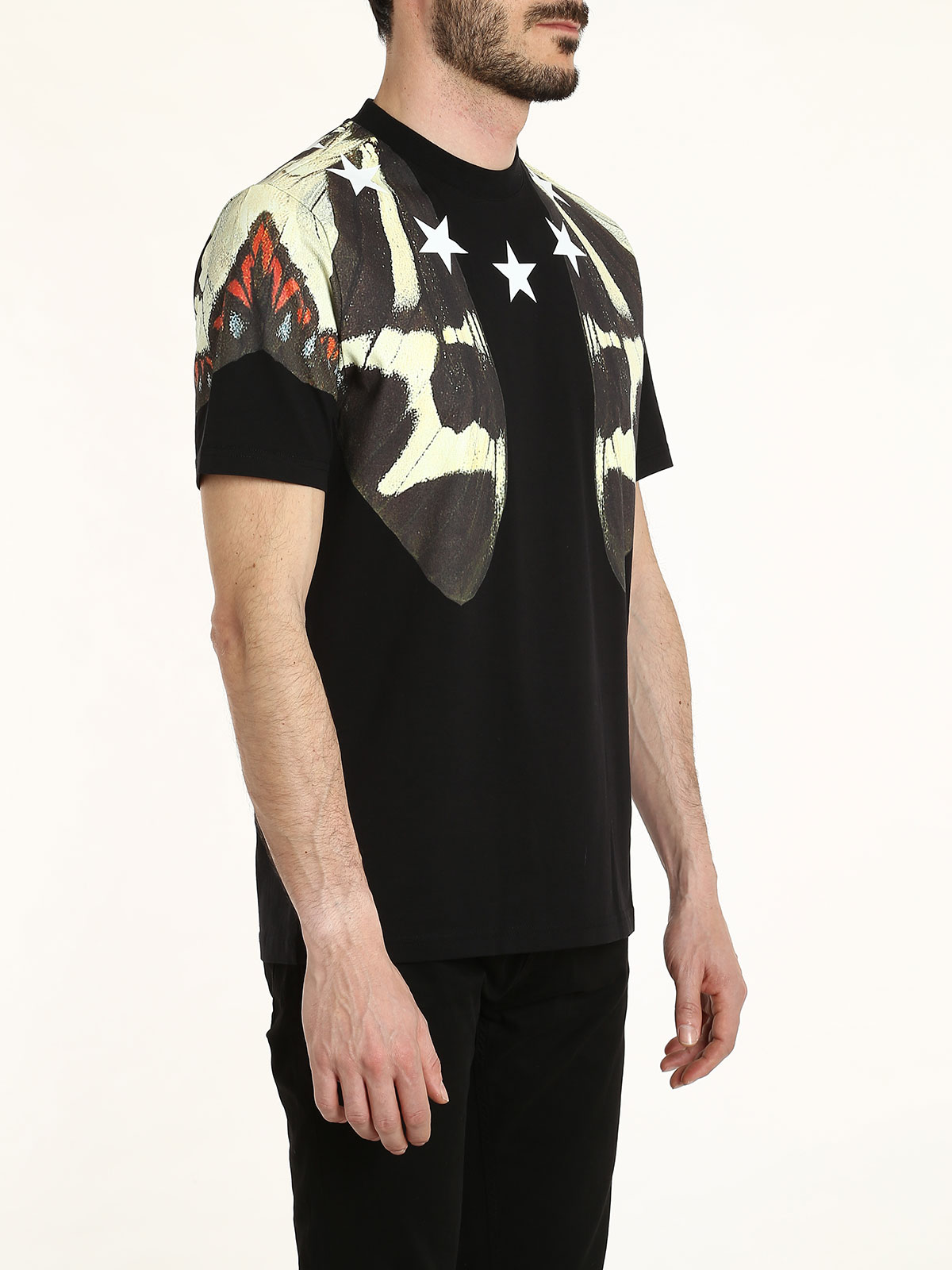 Butterfly and star printed t shirt by givenchy t shirts for Online printed t shirts