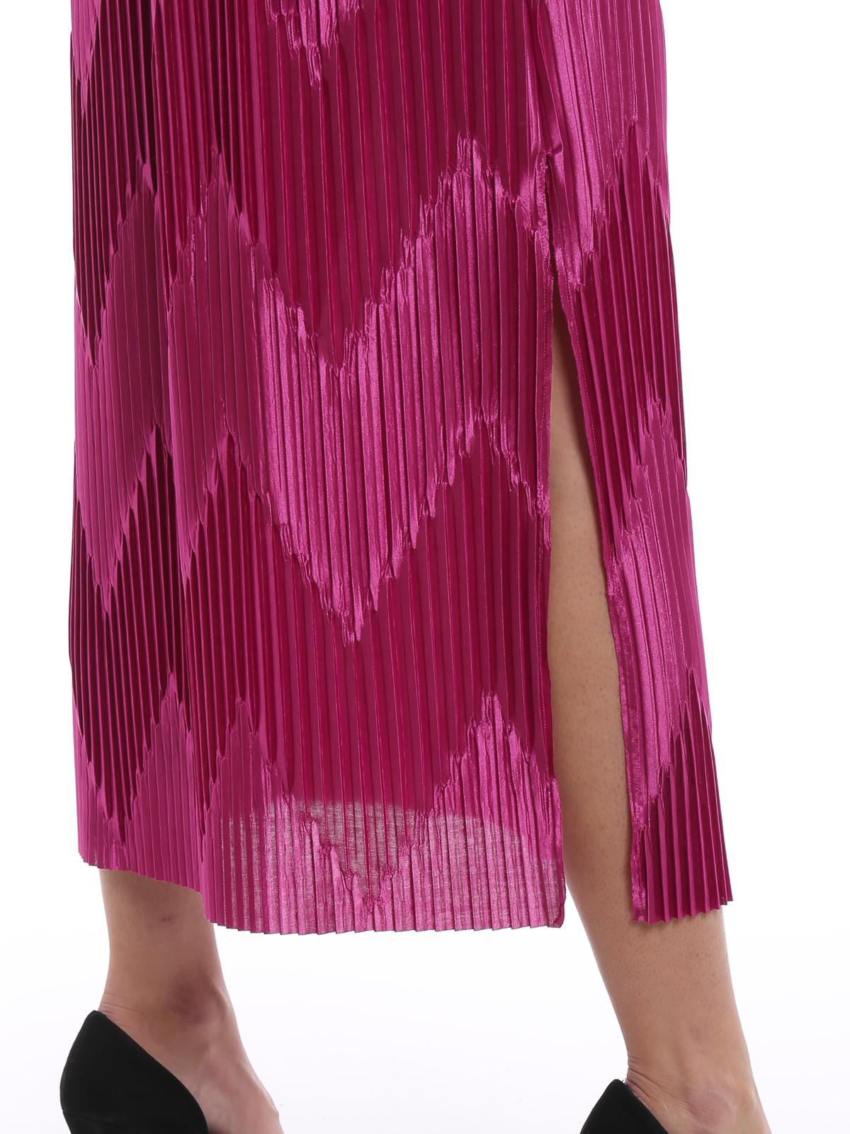 Givenchy Gonna lunga in jersey plissé chevron Gonne
