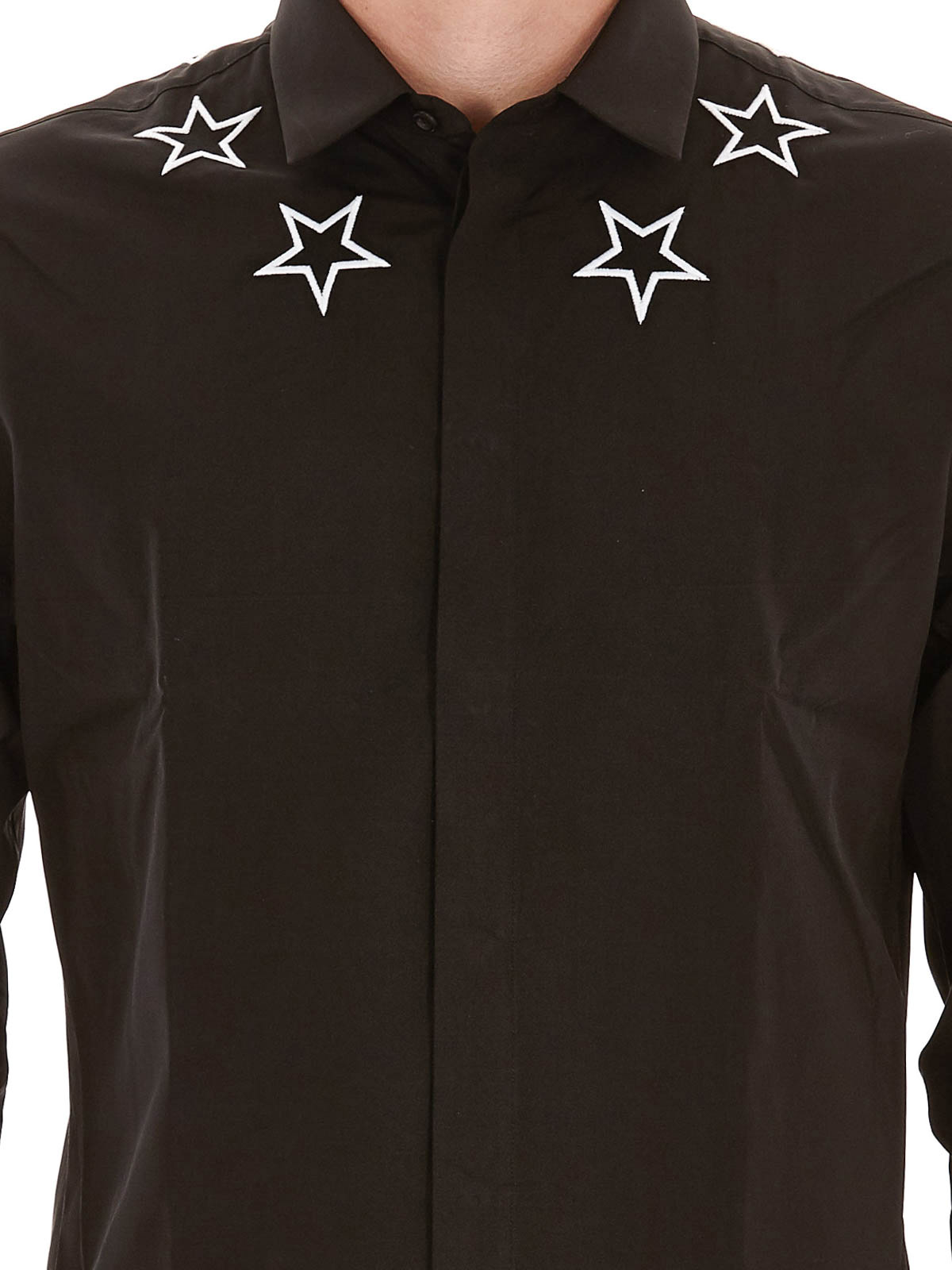 35393ca4464 Givenchy - Embroidered stars cotton shirt - shirts - 17S6068300001