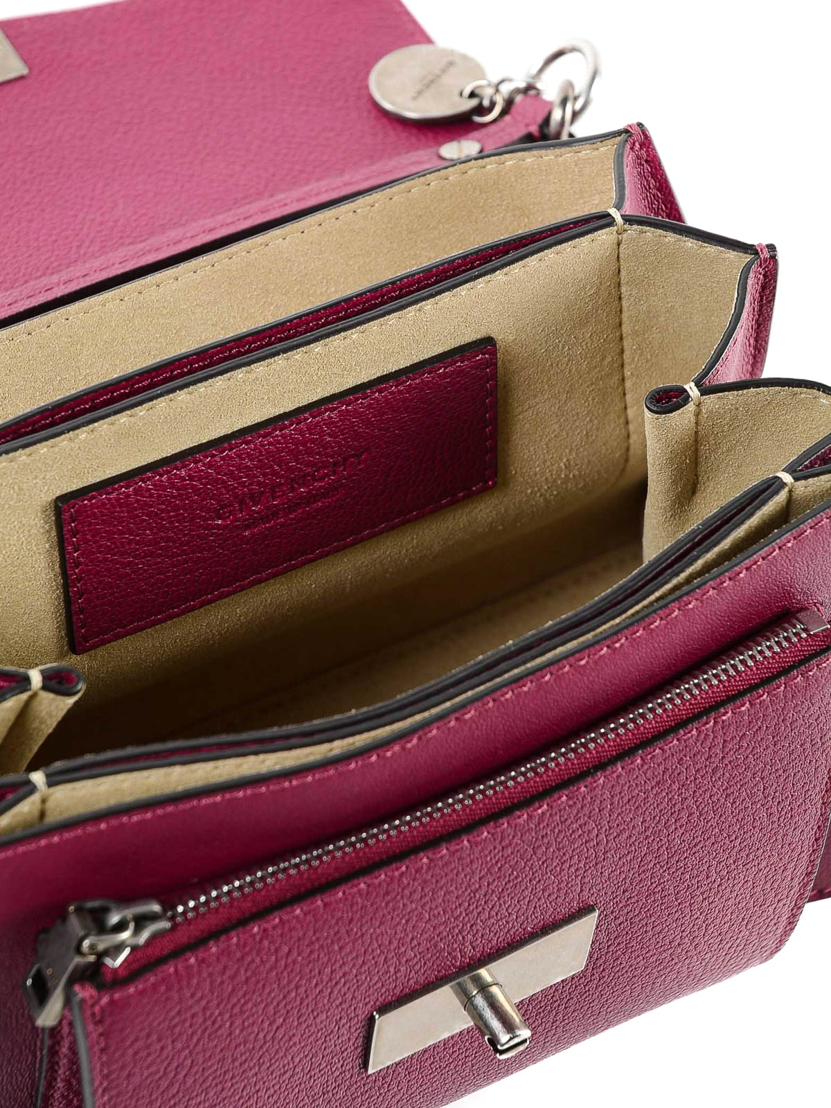 Givenchy - GV3 fuchsia leather small bag - cross body bags ... f8364b6319459