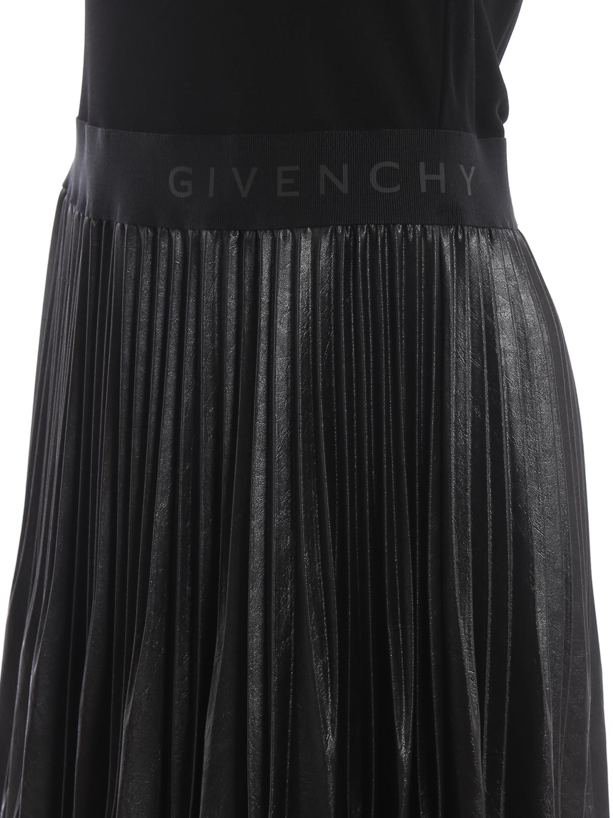 Givenchy Abito con gonna plissettata spalmata abiti da