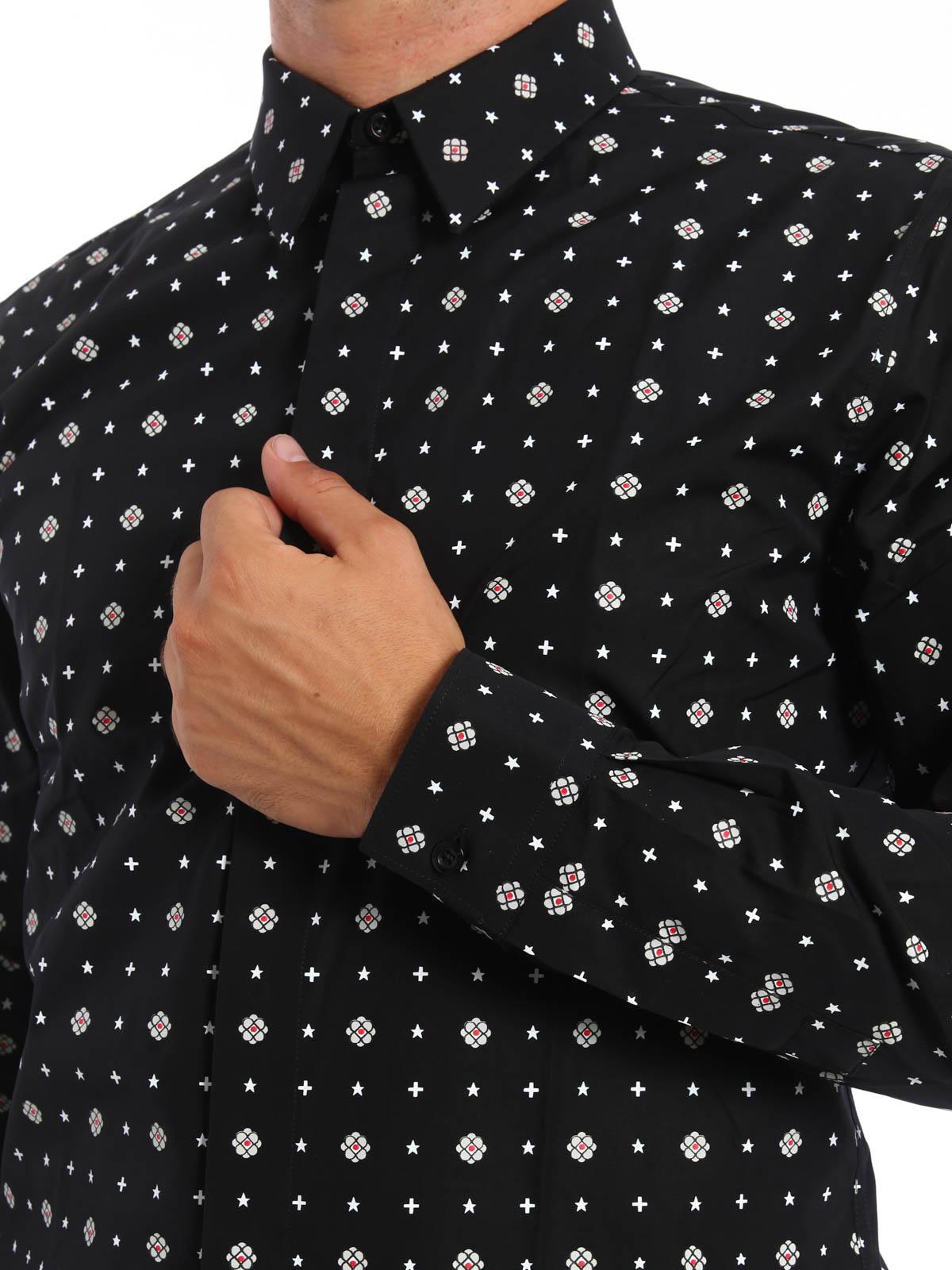 Camicia 001 Givenchy Stampa Camicie 16f6043741 Con Fantasia 8wOn0mNv
