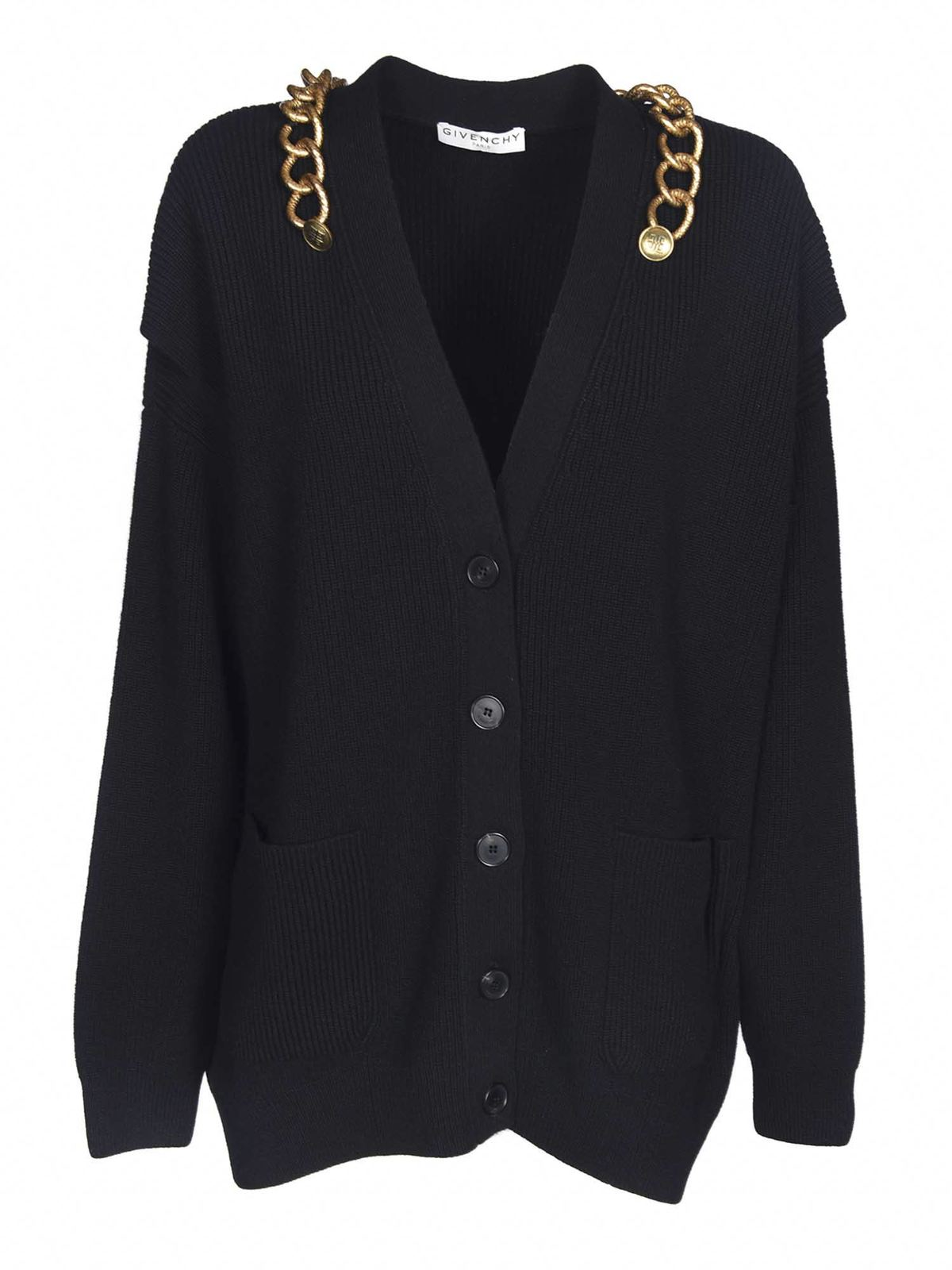 Givenchy CHAIN CARDIGAN IN BLACK