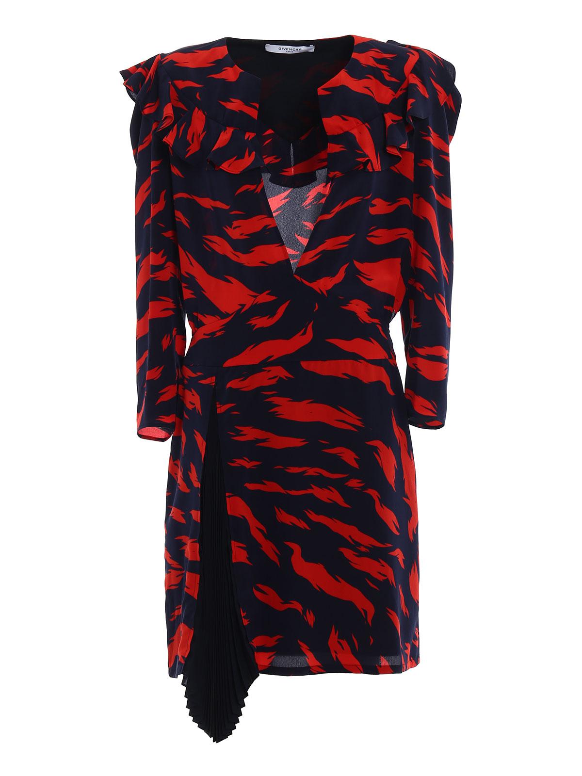 Givenchy - Abito in seta con maxi spalle - abiti da cocktail ... fd8870eedd9