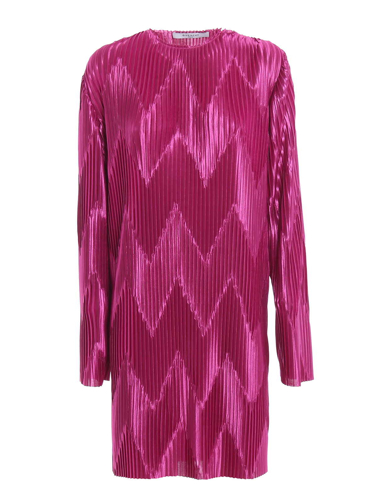 GIVENCHY  cocktail dresses - Orchid purple chevron pleated jersey dress 54e1a59233a61