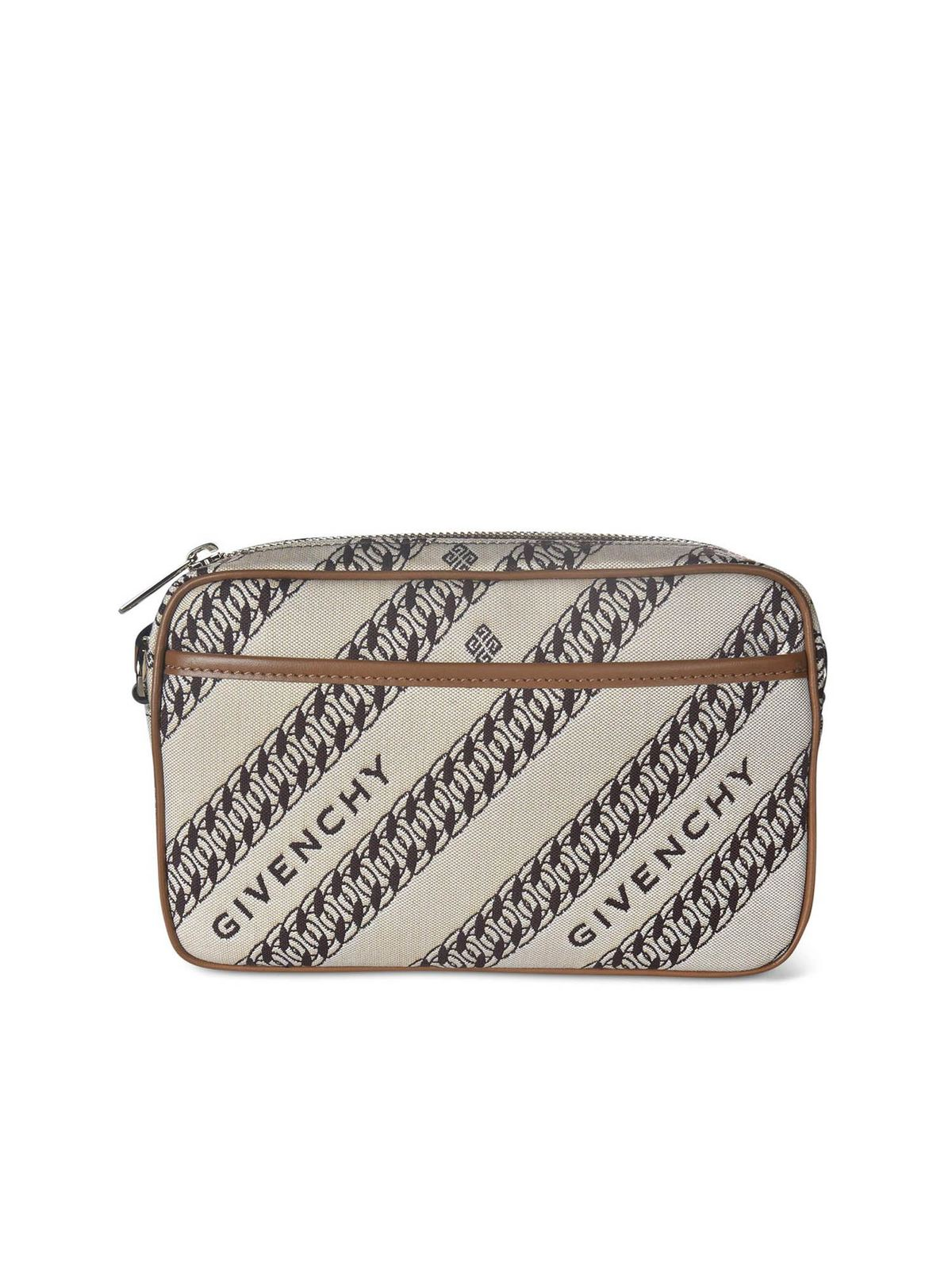 Givenchy Canvases CHAIN PRINTED SHOULDER BAG IN BEIGE