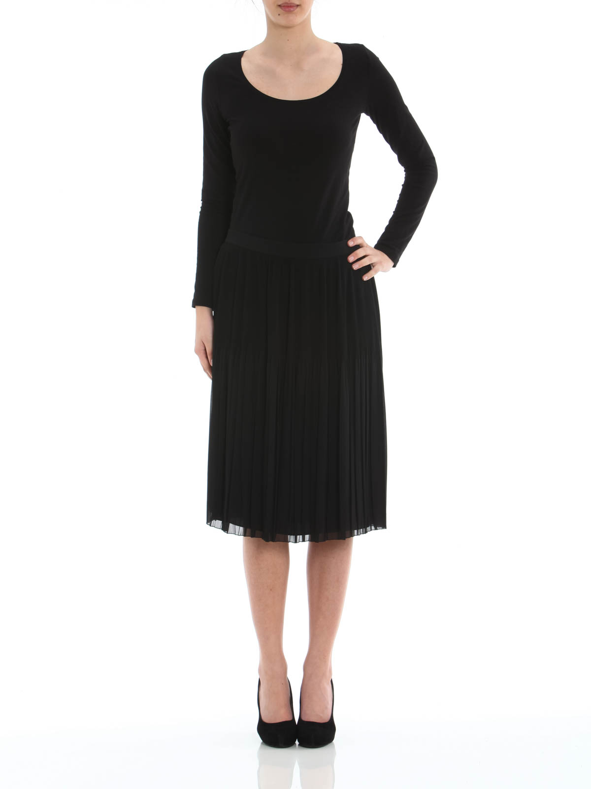 pleated skirt by givenchy knee length skirts midi ikrix