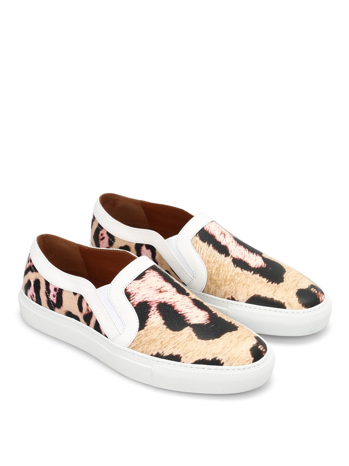 8c3ee250df2 Givenchy - Skate leopard slip-ons - Mocassins   Chaussures bateau ...