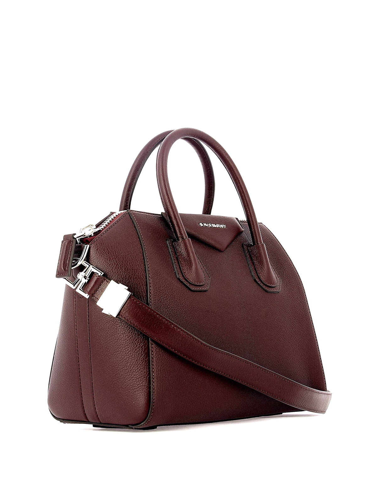 c6c4c94726b GIVENCHY: bowling bags online - Antigona aubergine leather small handbag