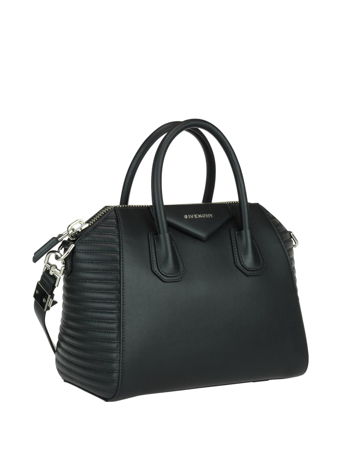 b05686f856 GIVENCHY  bowling bags online - Antigona black leather small bowling bag