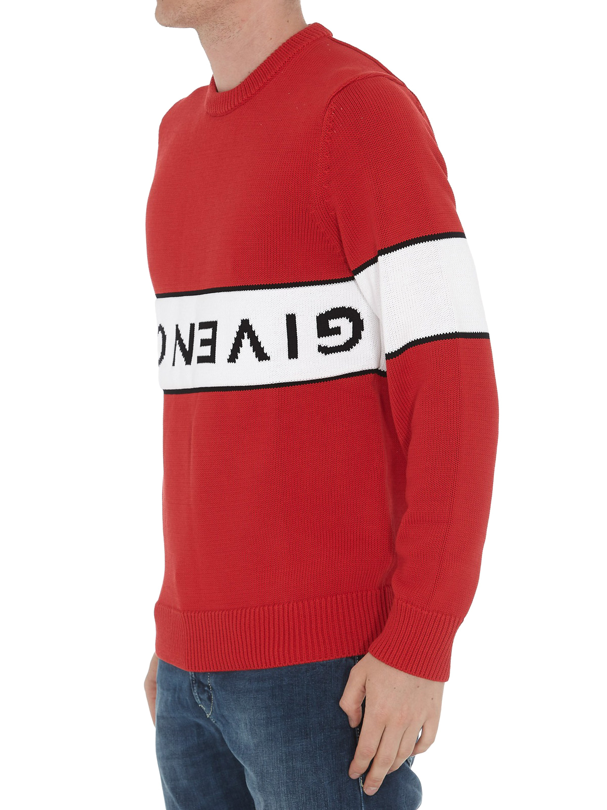 Givenchy Pull Col Rond Rouge Pull col rond BM9063401M616
