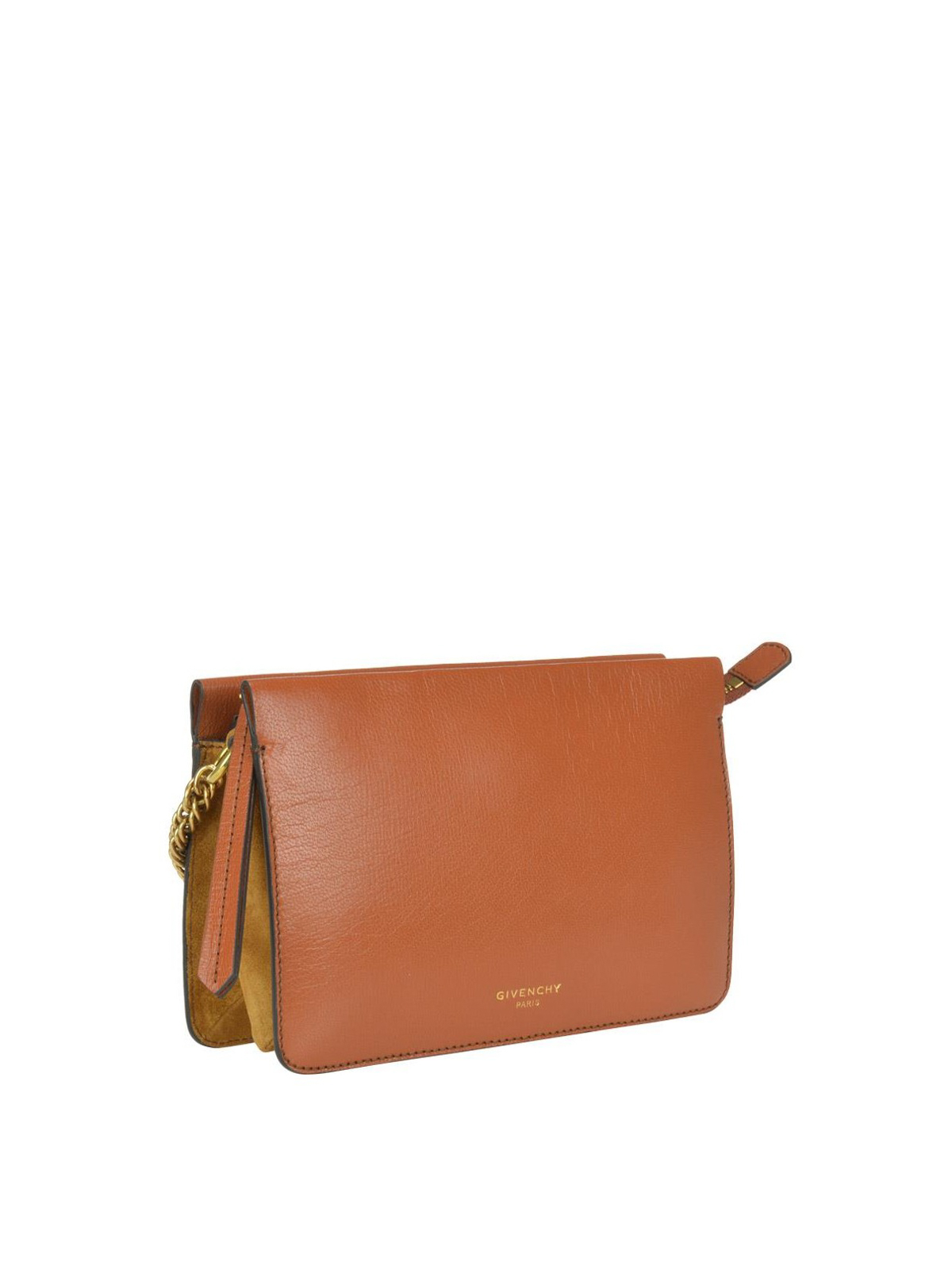 5b16847537a9 GIVENCHY  cross body bags online - Cross 3 brown leather zipped small bag