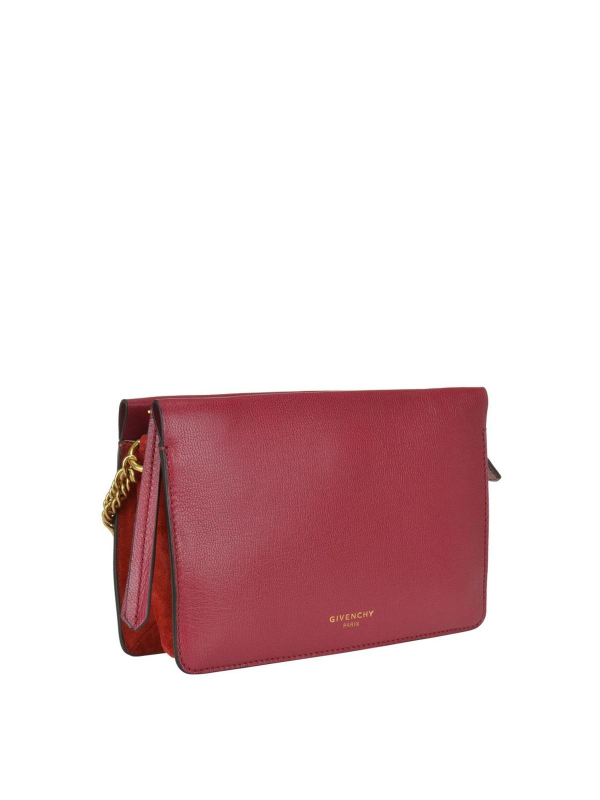 70912b16c68b GIVENCHY  cross body bags online - Cross 3 burgundy leather zipped small bag