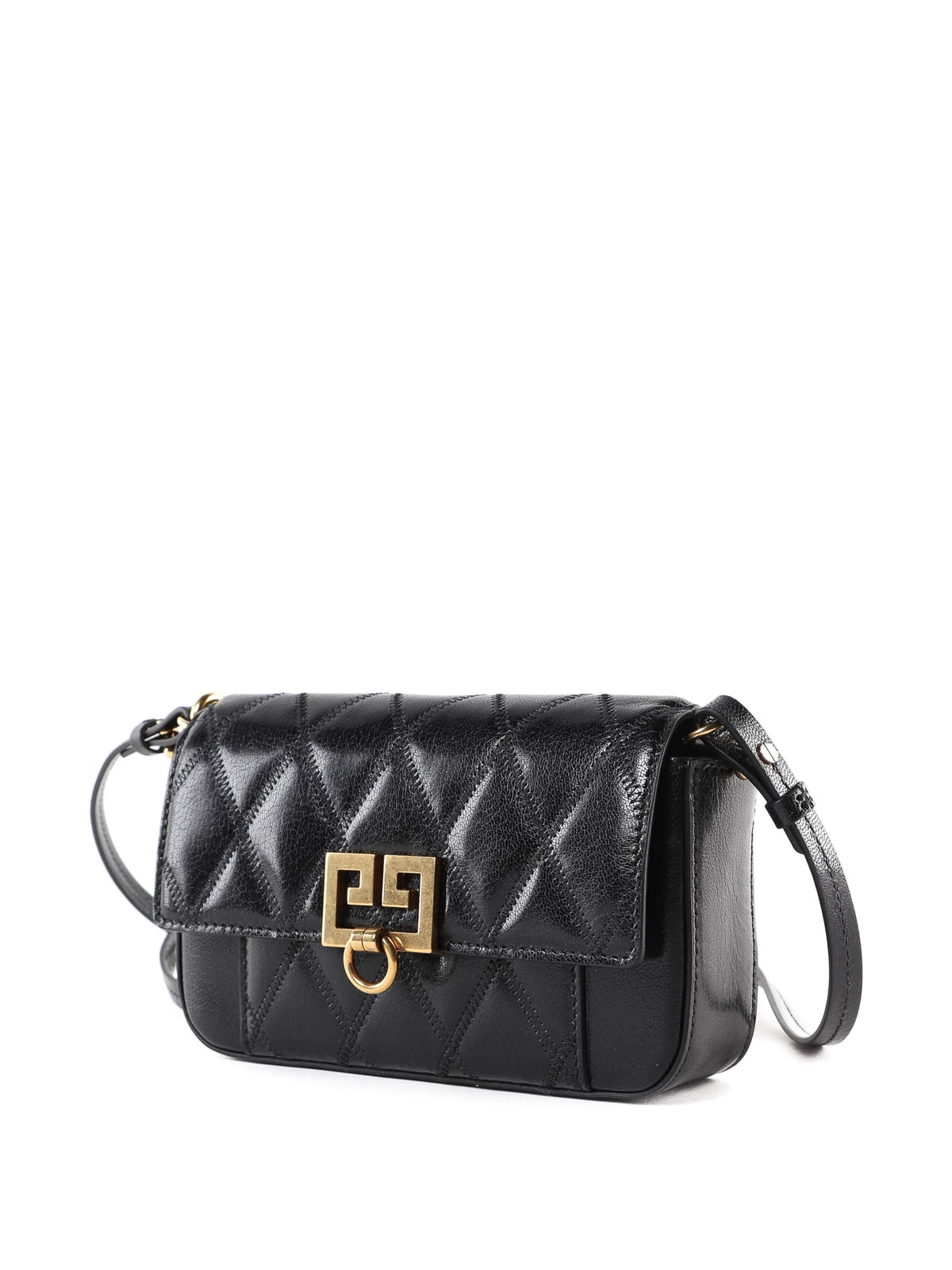 2617b7876a0 GIVENCHY: cross body bags online - Pocket quilted black leather mini bag