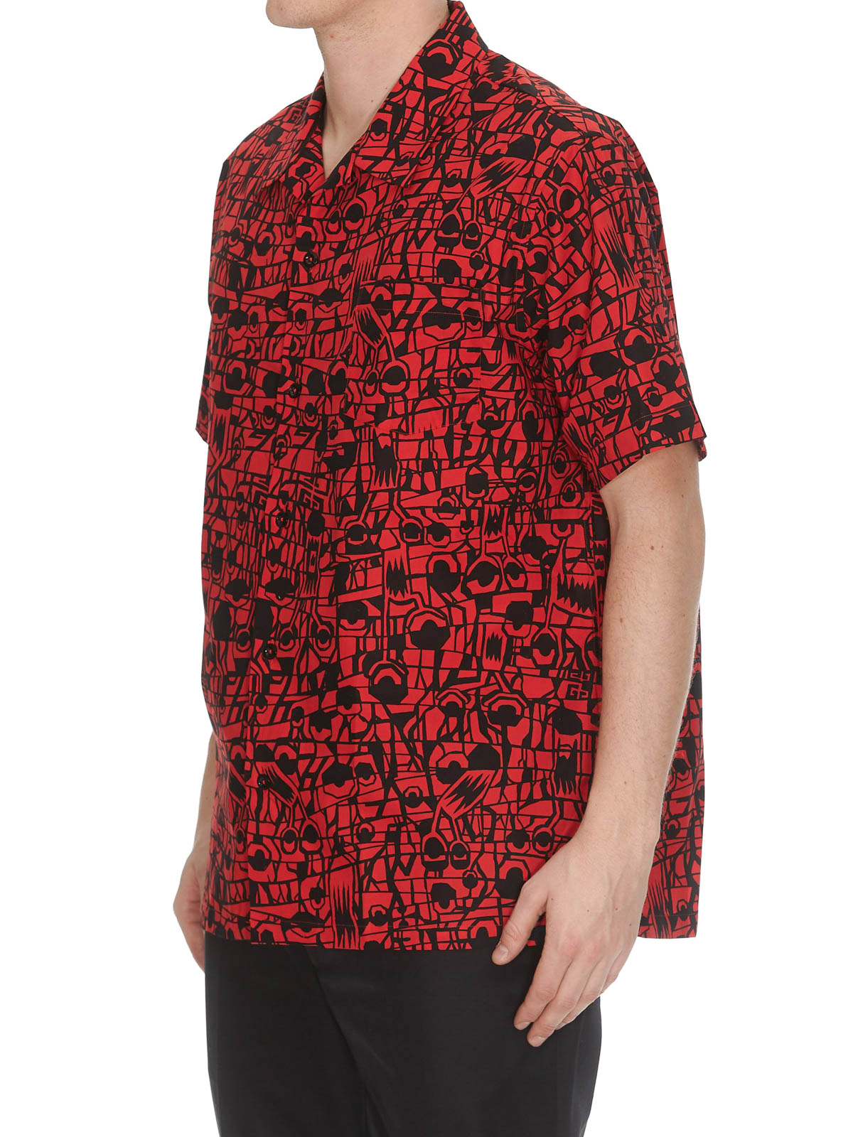 be4e7866 GIVENCHY: shirts online - Monster printed cotton Hawaiian shirt