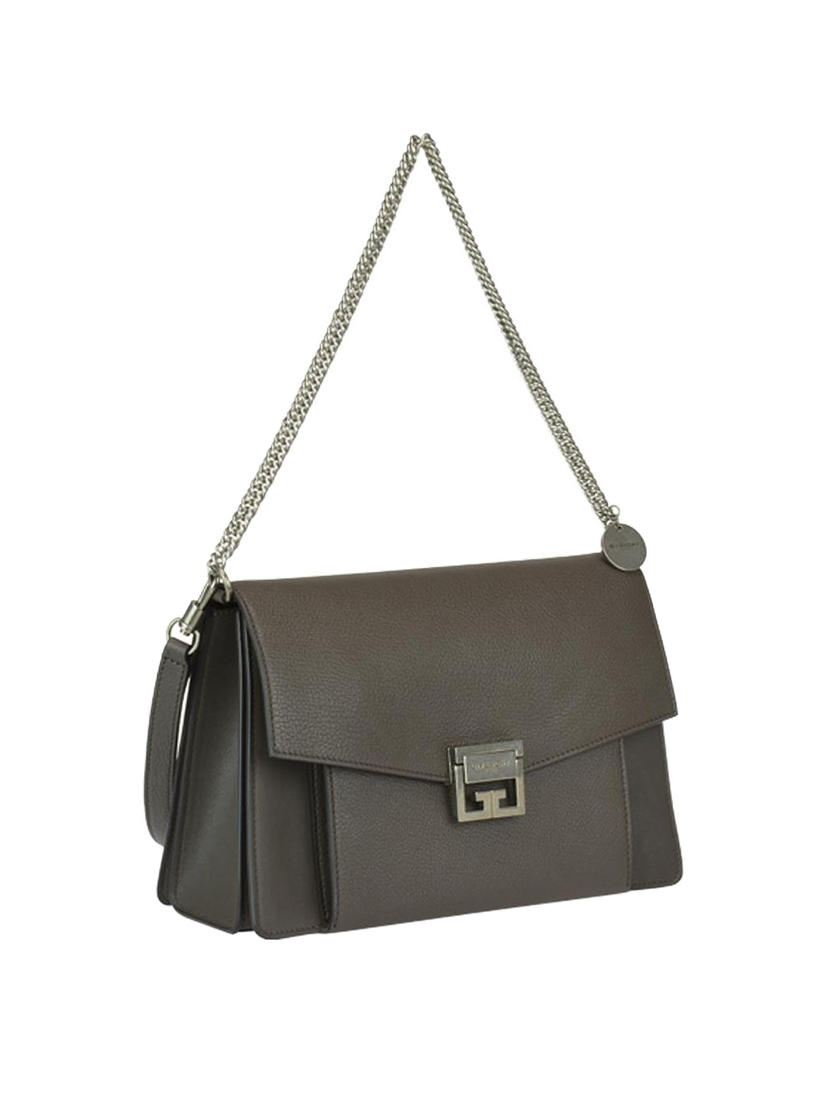 4f034e78dfc GIVENCHY  shoulder bags online - GV3 heather grey leather small shoulder bag
