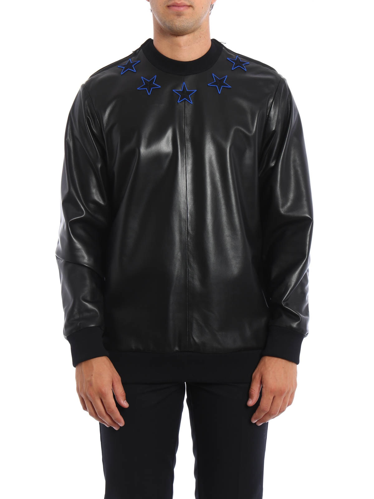 7a5e219722d0c GIVENCHY  Sweatshirts   Sweaters online - Leather panel sweatshirt