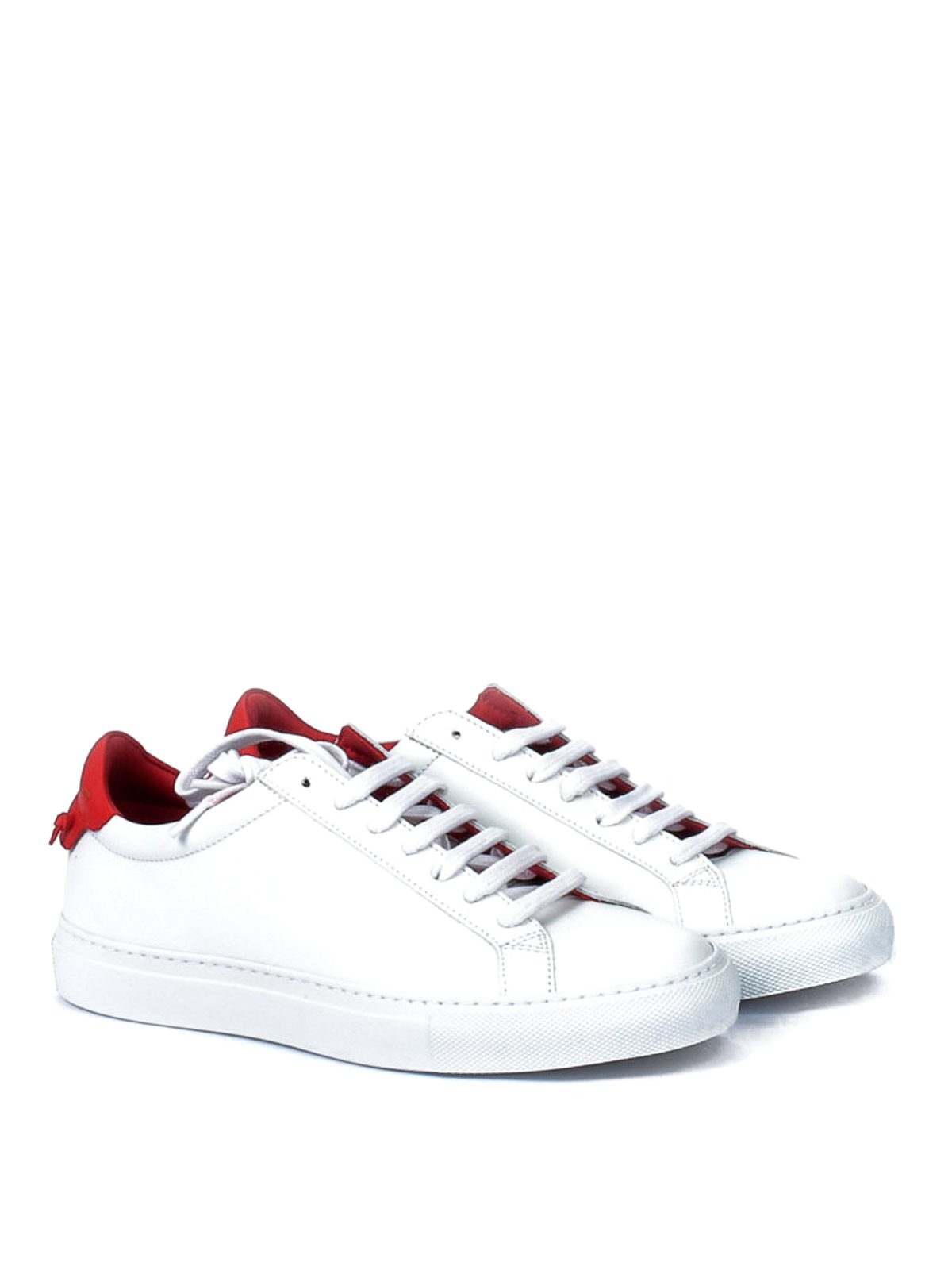 Knots red insert leather sneakers