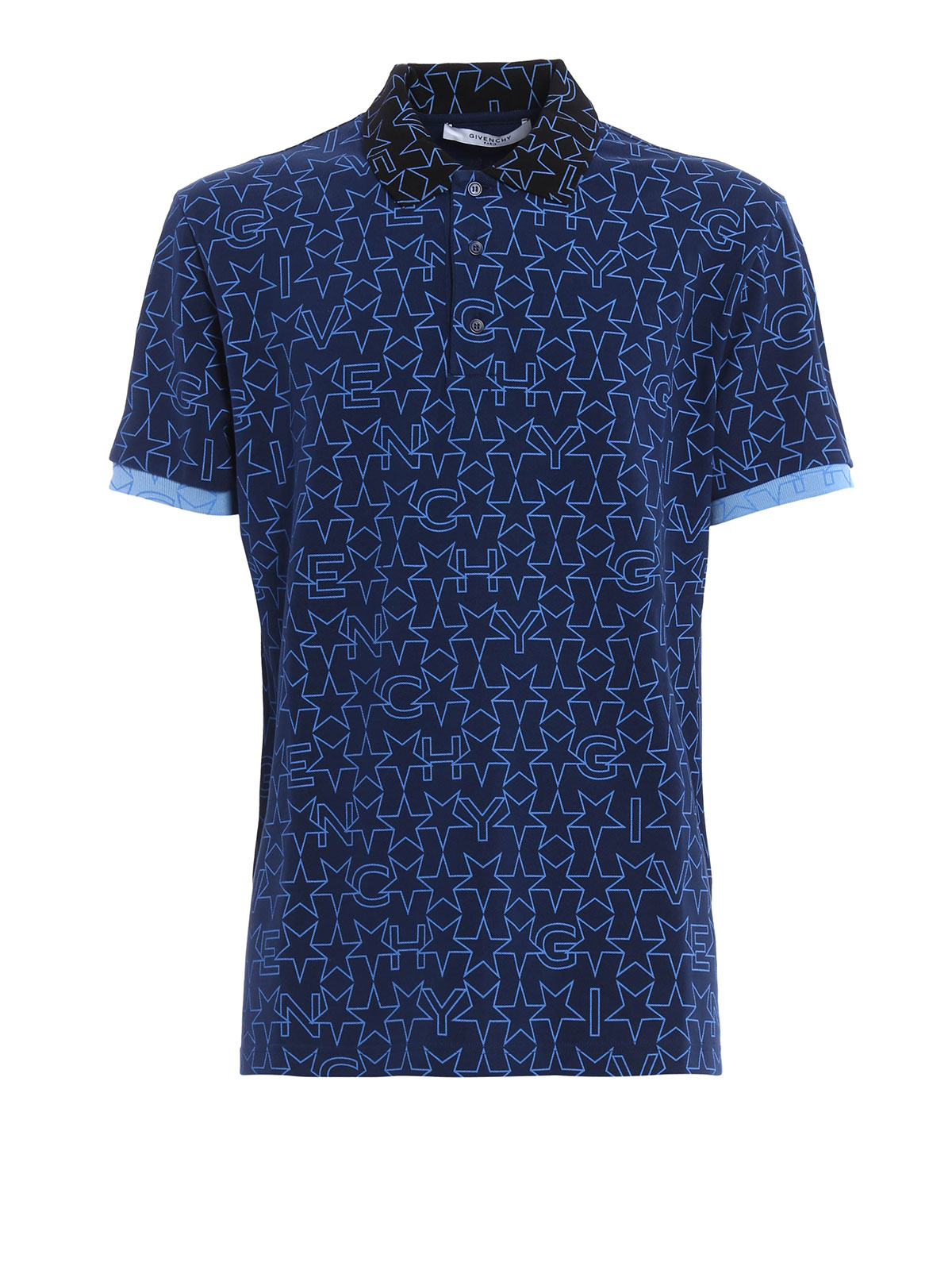 Star print polo by givenchy polo shirts ikrix for Polo shirts for printing