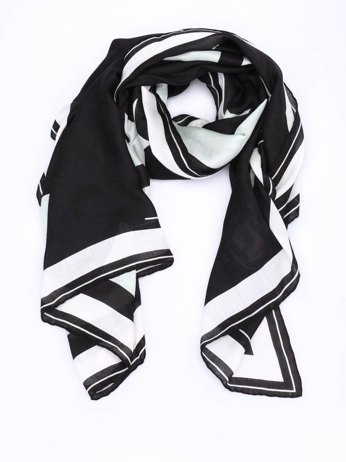 logo scarf - Black Givenchy nOK9zNgA