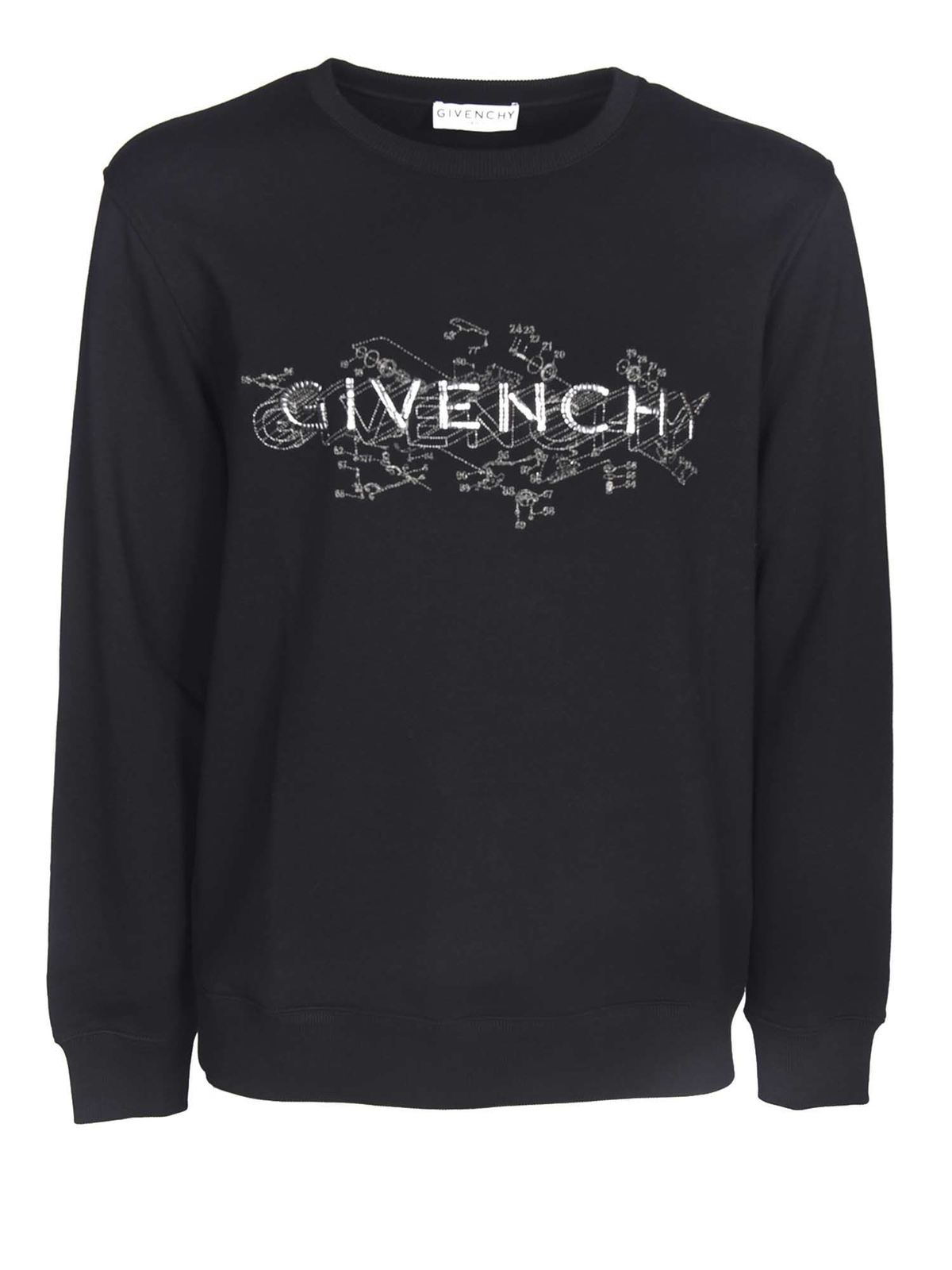 Givenchy Cottons LOGO SWEATSHIRT IN BLACK