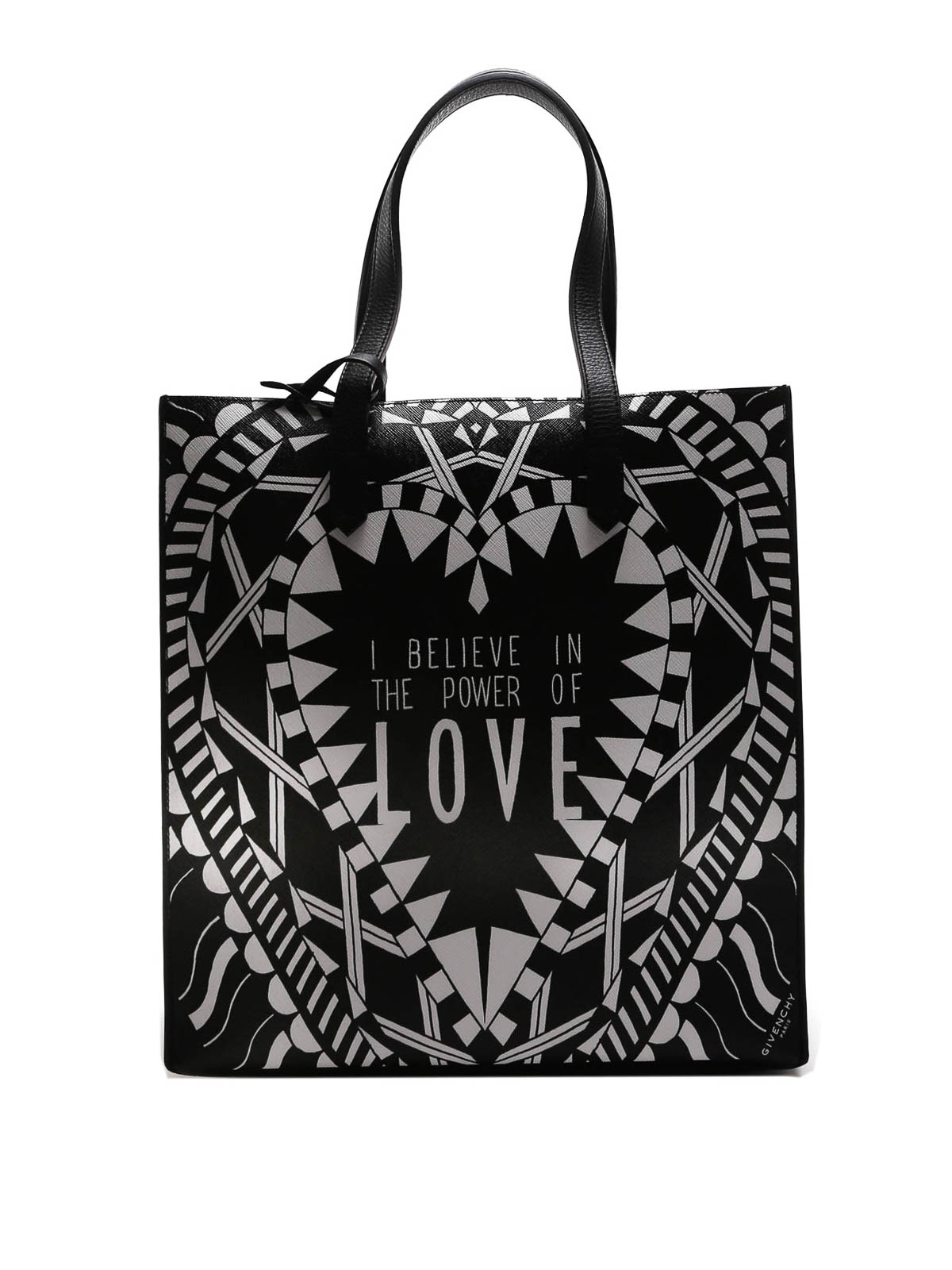 b51430c9fc Givenchy - Love print leather tote - totes bags - BB05480373960
