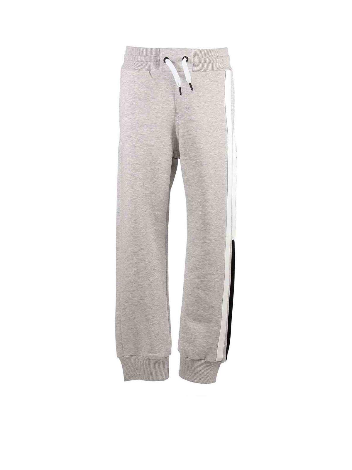 Givenchy Kids' Logo Printed Pants In Melange Grey