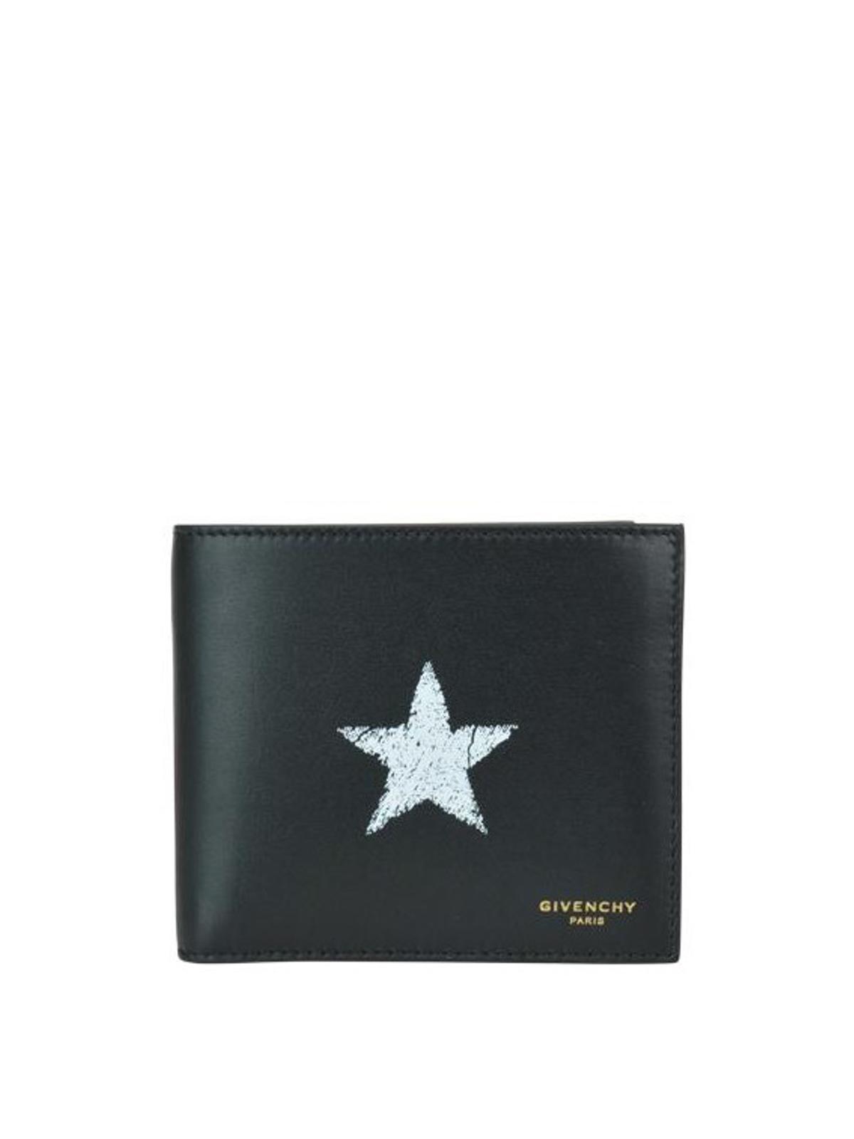 5984b9c389 Givenchy - Portafoglio bifold in pelle con stella - portafogli ...