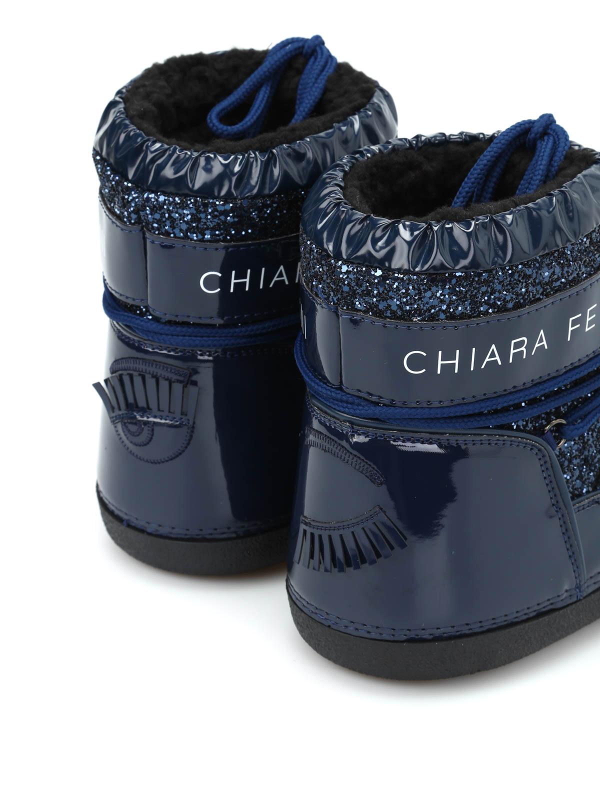 Chiara Ferragni Moon boot medi glitterati stivali