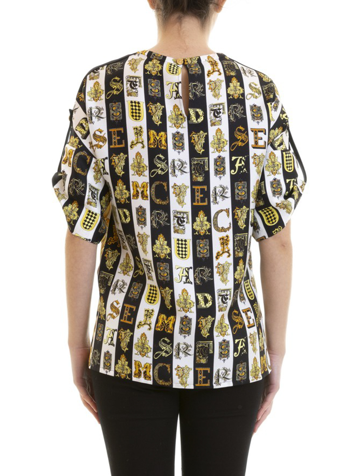 1c851b87e2 Versace - Gold Hibiscus print silk blouse - blouses - A82352A228617A7900