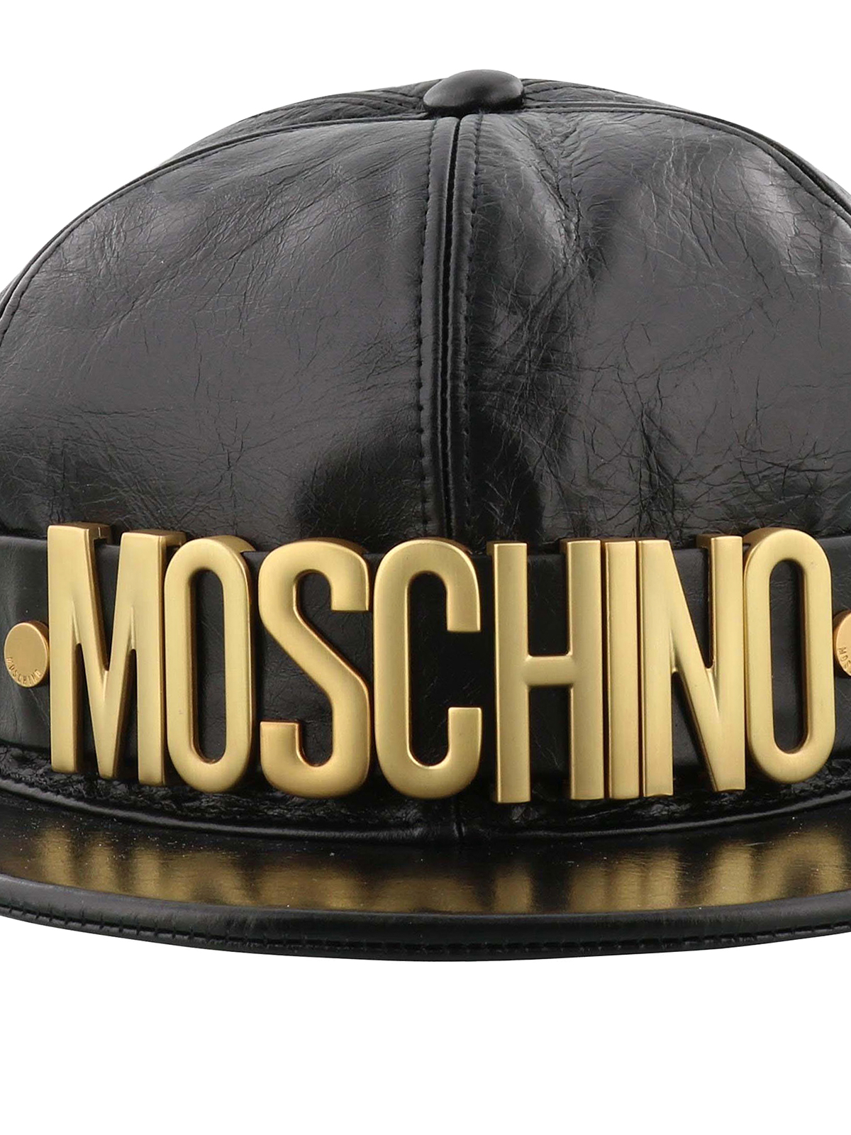 a220596a224 Gold-tone logo crackle leather baseball cap shop online  MOSCHINO · MOSCHINO   hats   caps ...