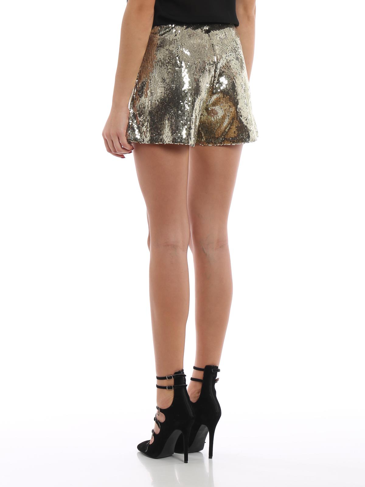 migliori scarpe da ginnastica f785f 33677 Blugirl - Pantaloncini dorati di paillettes - pantaloni ...