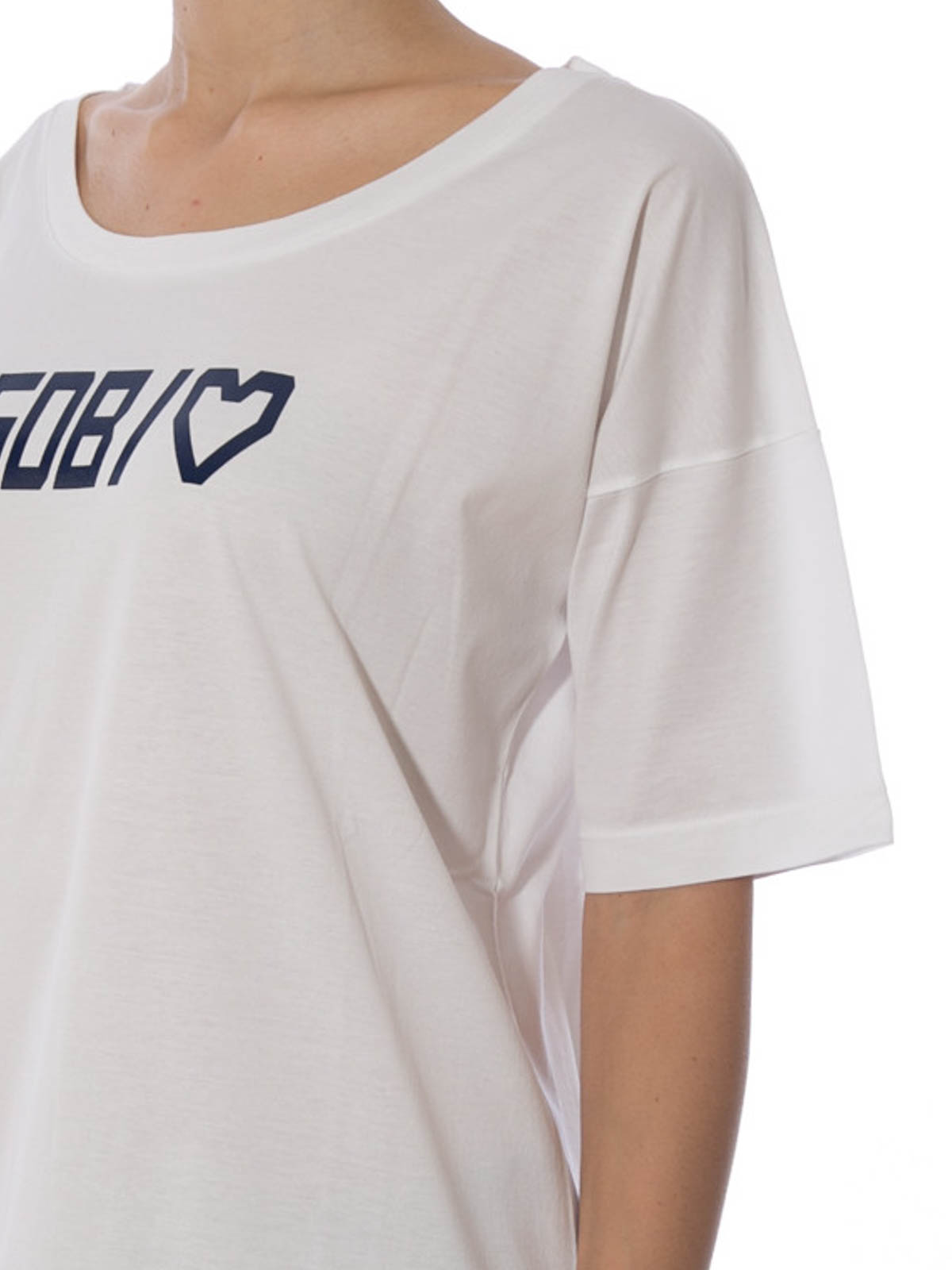 Branded Heart Print T Shirt By Golden Goose T Shirts Ikrix