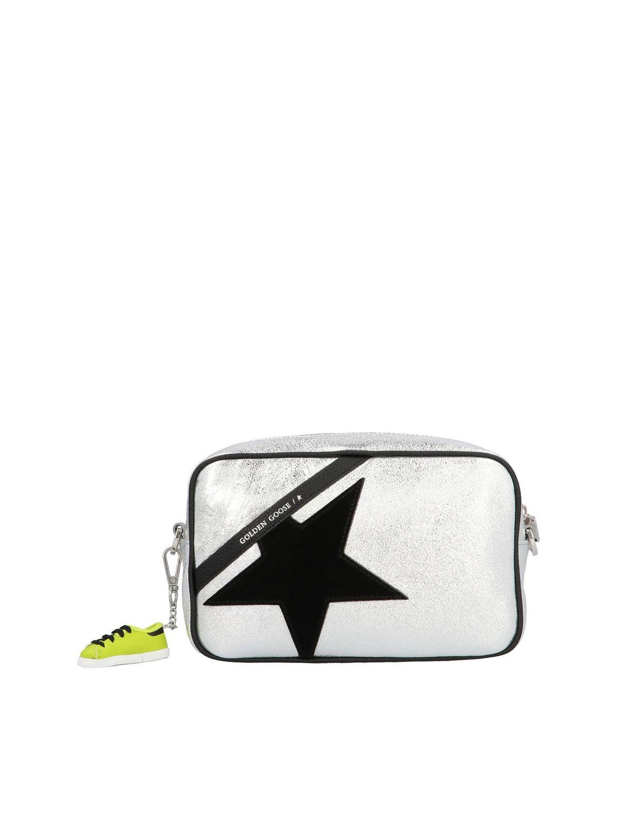 Golden Goose STAR BAG SHOULDER BAG IN SILVER COLOR