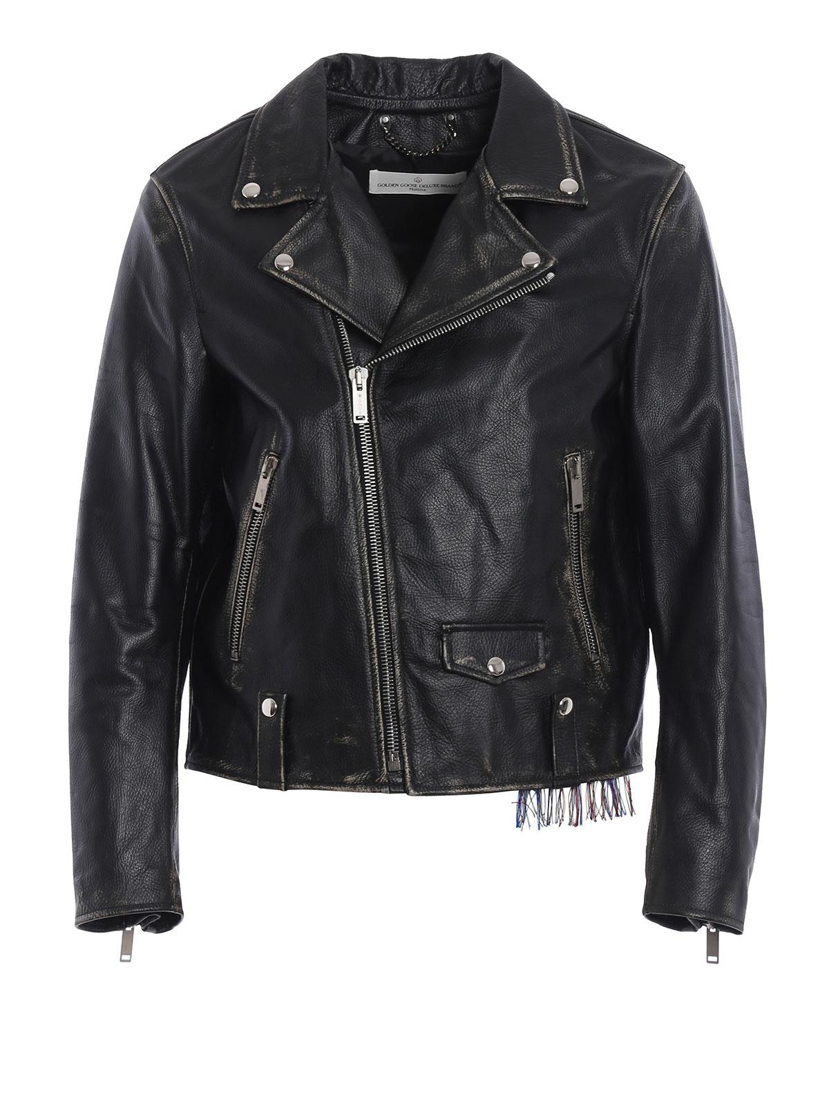 biker inspired leather jacket by golden goose leather jacket ikrix. Black Bedroom Furniture Sets. Home Design Ideas