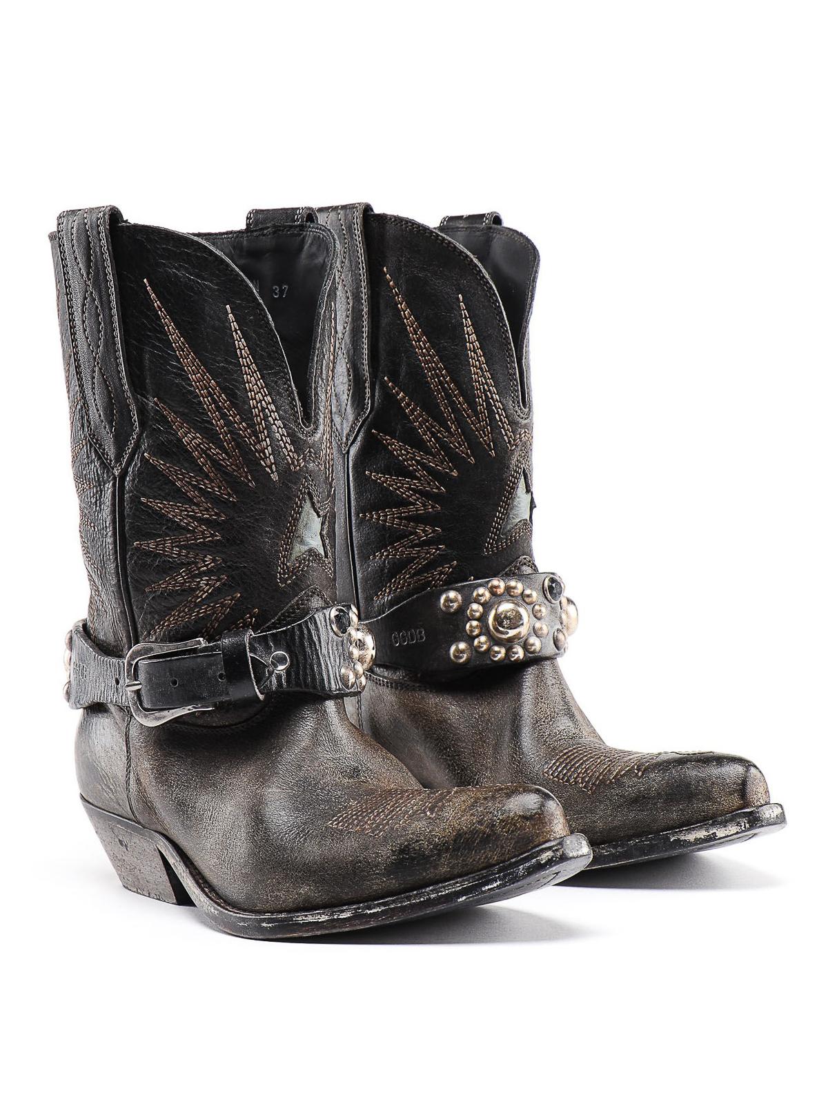 Golden Goose - Wish Star belted Texan