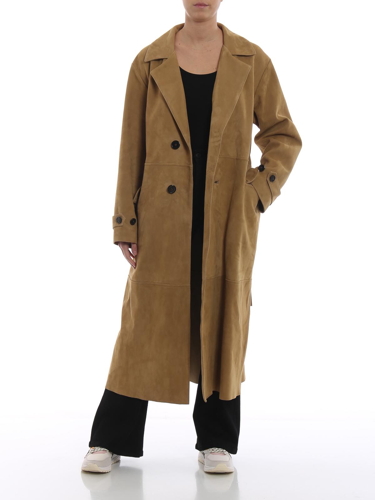 Golden Goose - Elle suede long coat