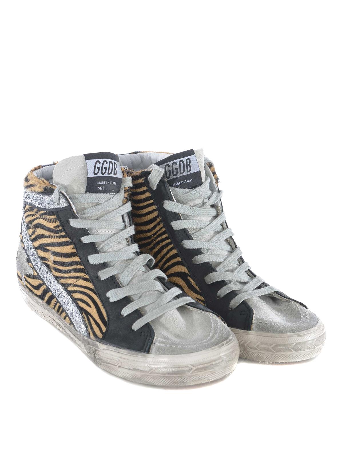 Golden Goose - Slide Zebra print