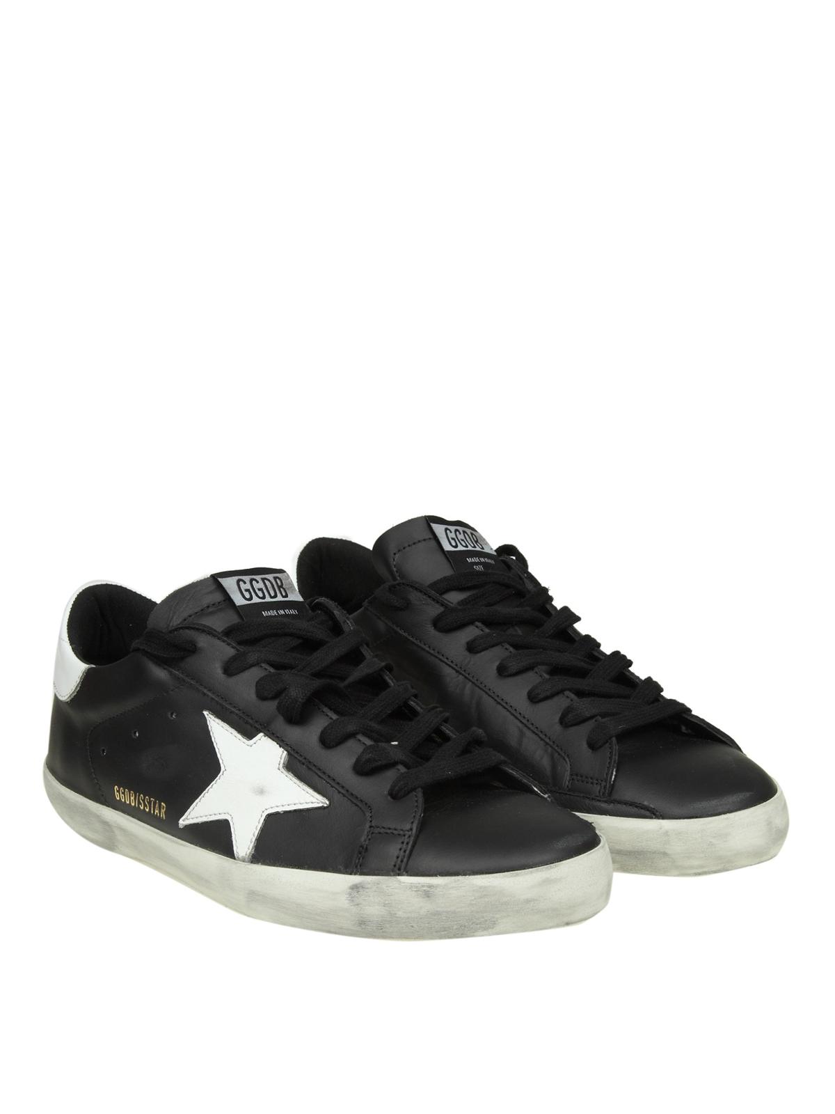 2939383965134 GOLDEN GOOSE  trainers online - Superstar black leather sneakers