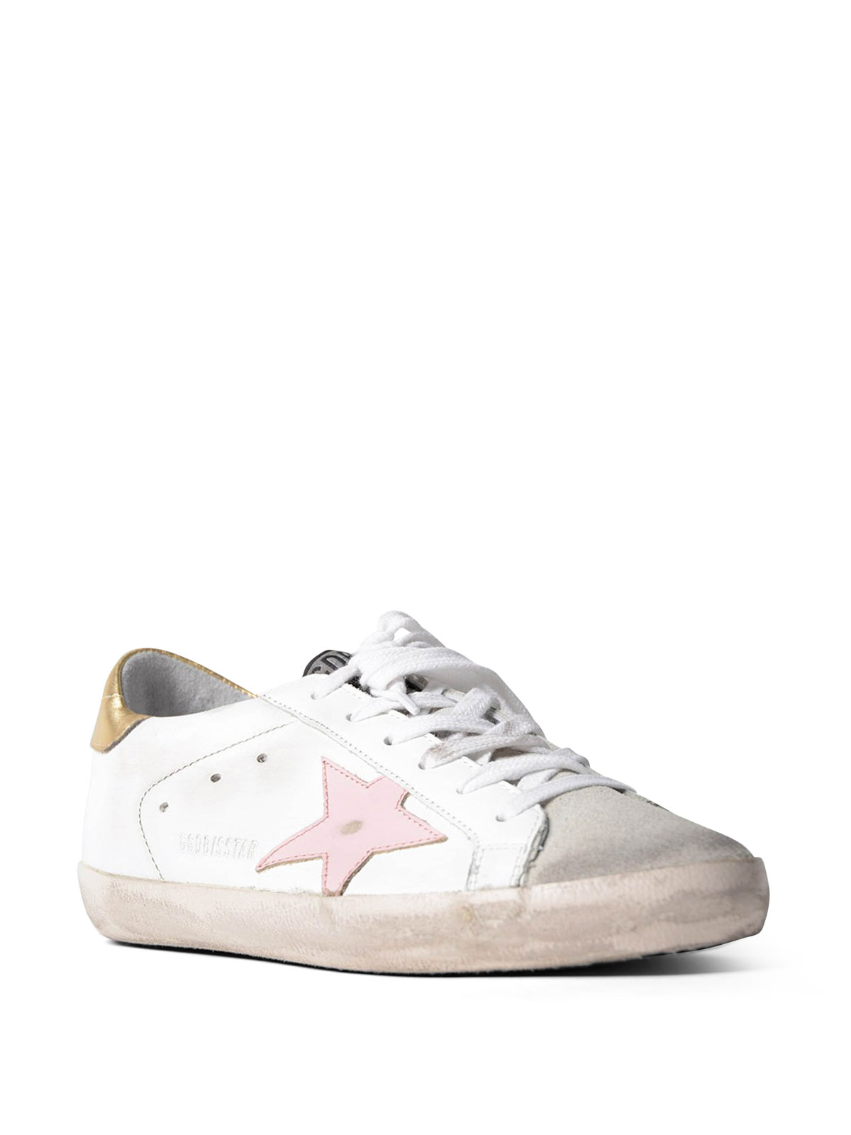 los angeles 8c993 dc29d Golden Goose - Sneaker Superstar con stella rosa - sneakers ...