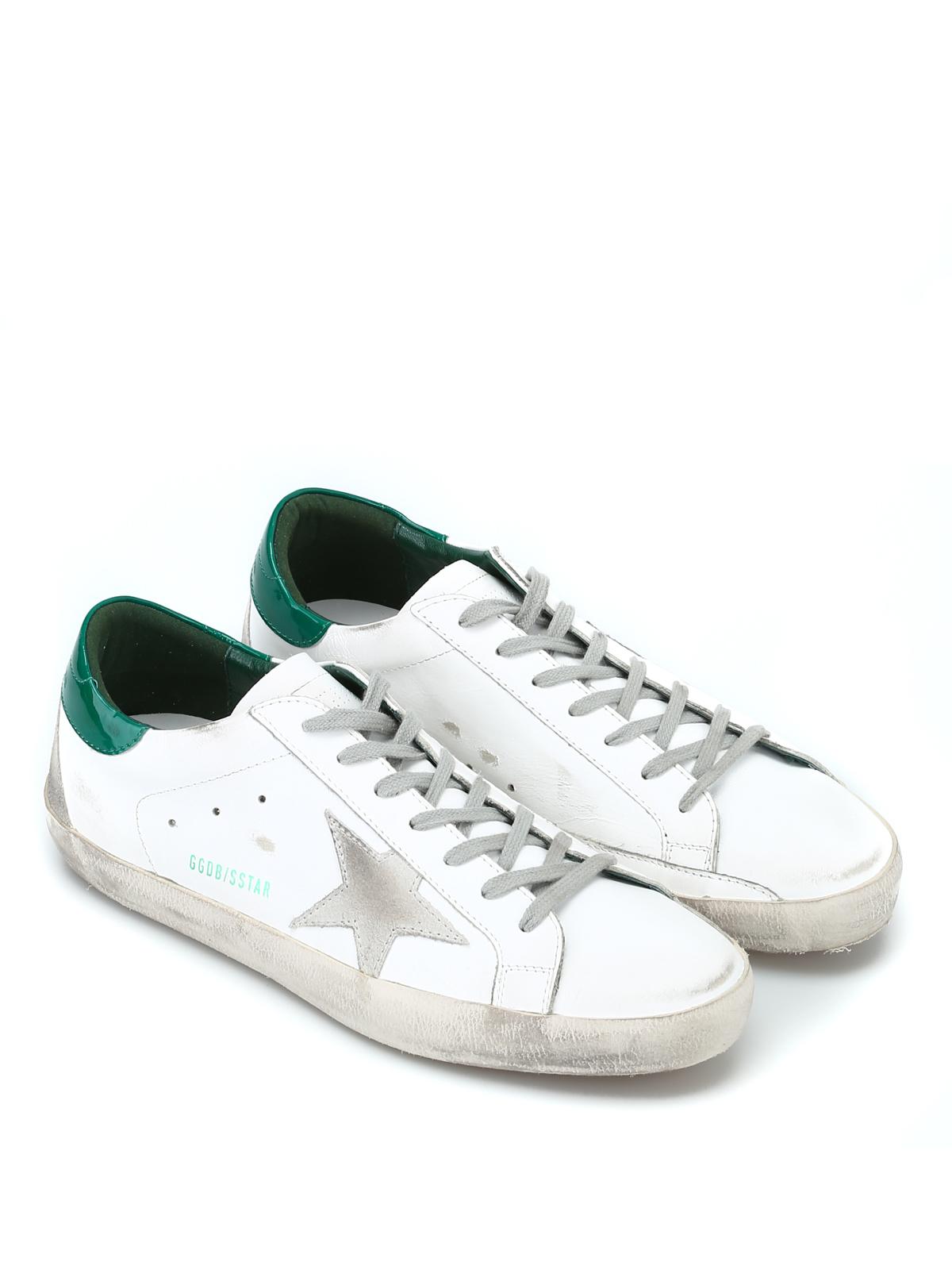 GOLDEN GOOSE: sneakers online - Sneaker Superstar bianche e verdi