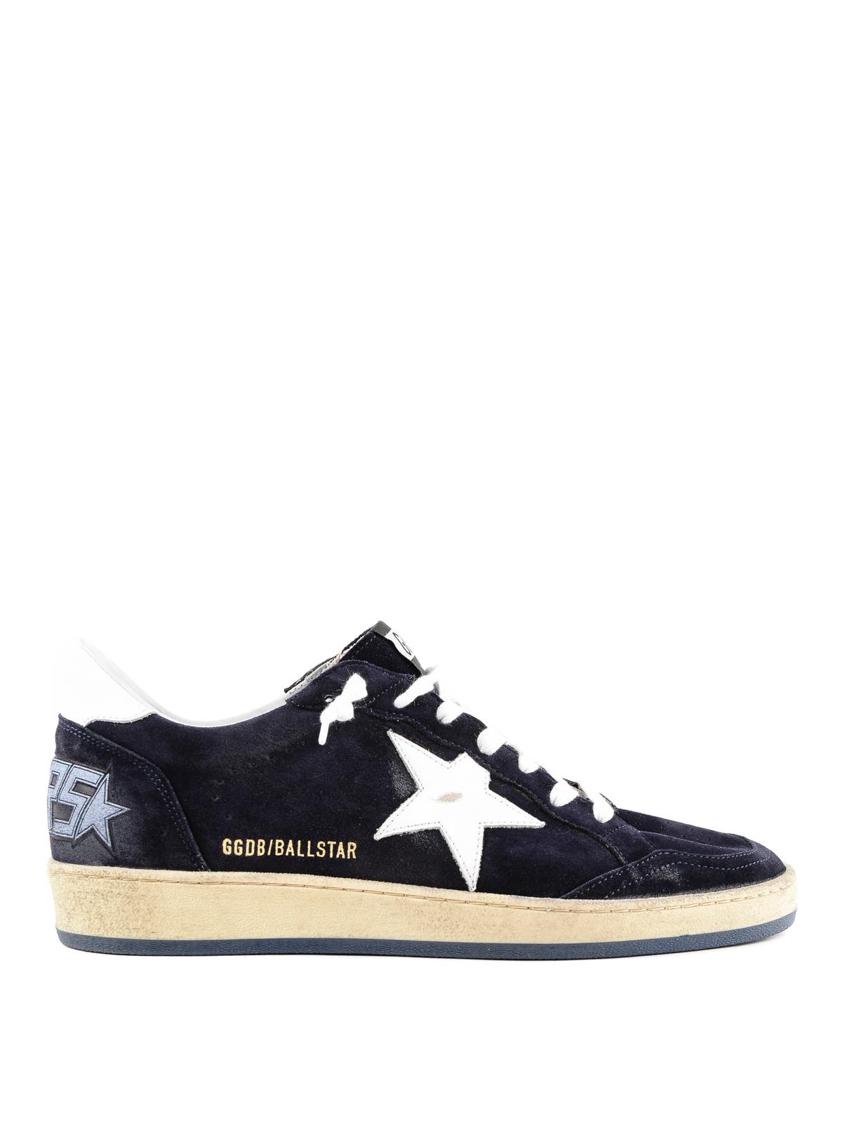 Golden Goose Ball Star navy suede sneakers trainers