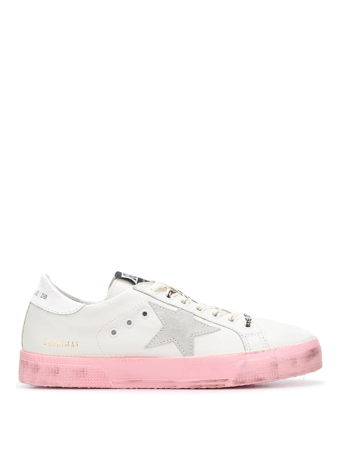 8c34bc5e89856 Golden Goose - May pink sole leather sneakers - trainers - G33WS127I8