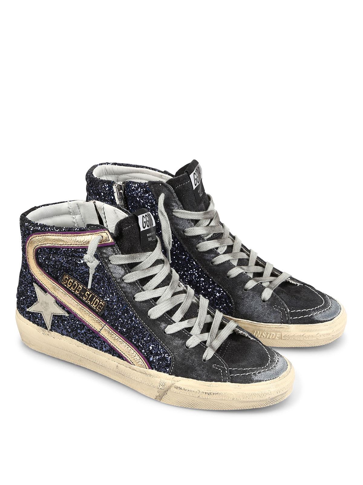 slide sneakers by golden goose trainers shop online at. Black Bedroom Furniture Sets. Home Design Ideas